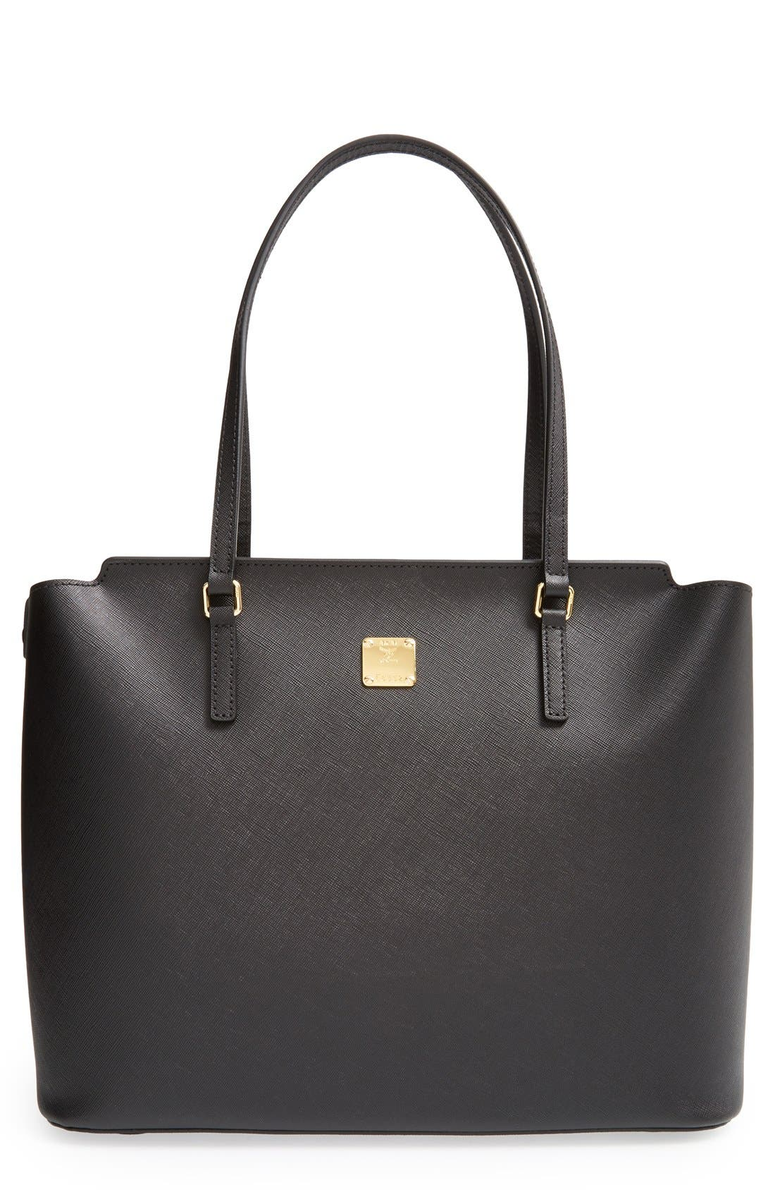 Alternate Image 1 Selected - MCM 'Medium Project' Saffiano Leather Shopper