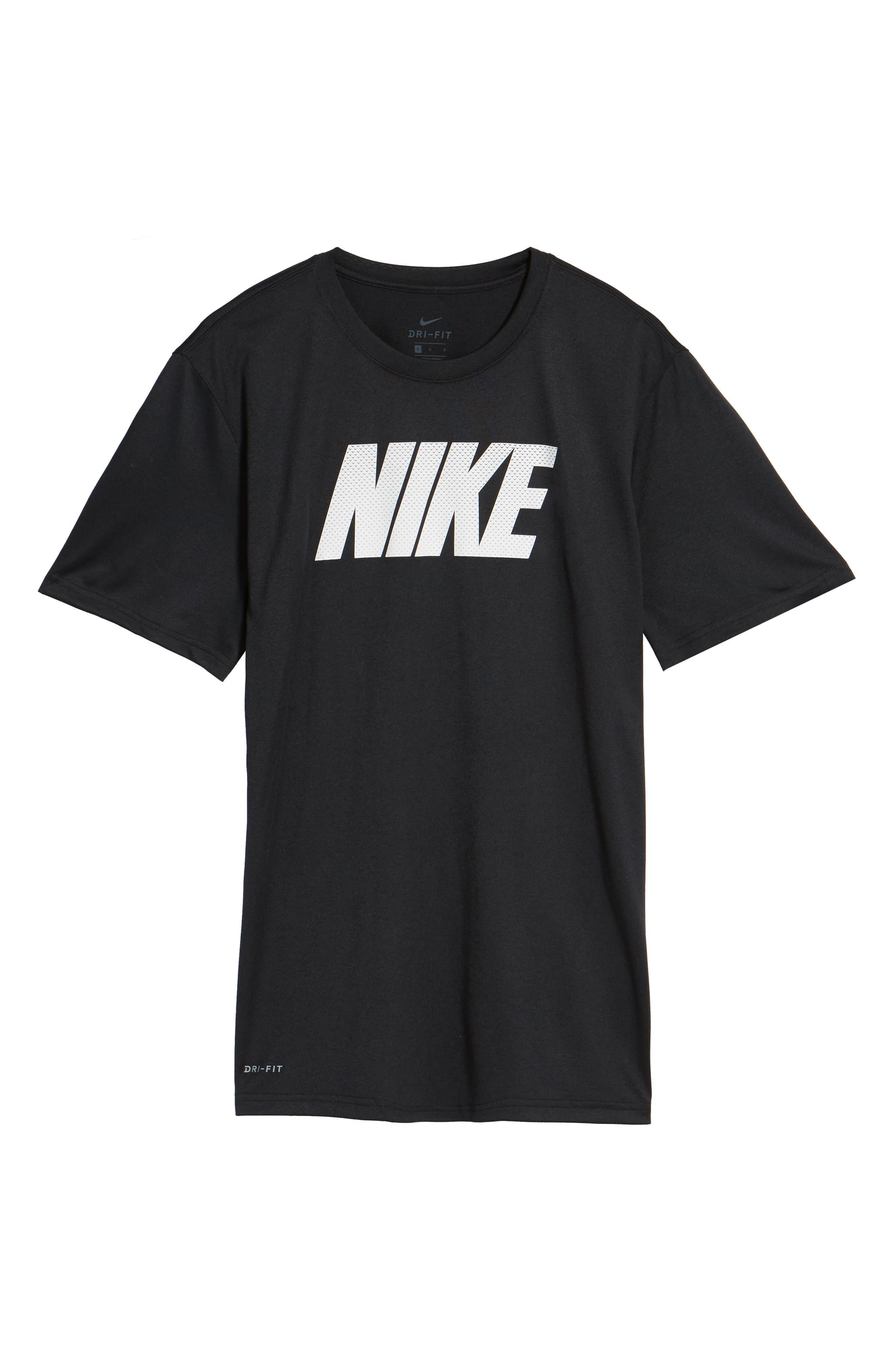 Dry Legend Training T-Shirt,                             Alternate thumbnail 6, color,                             Black