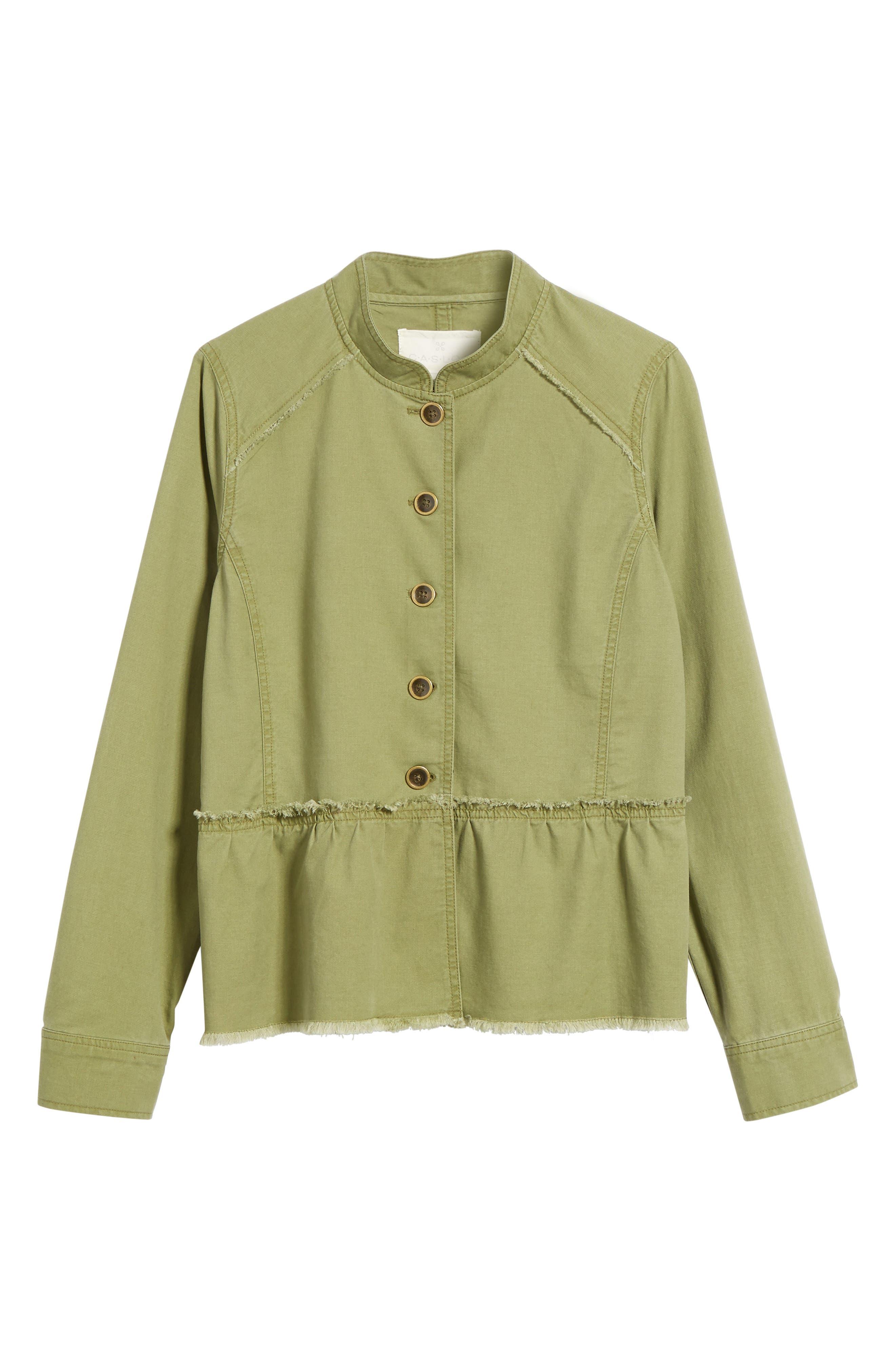 Alternate Image 7  - Caslon® Twill Peplum Jacket (Regular & Petite)
