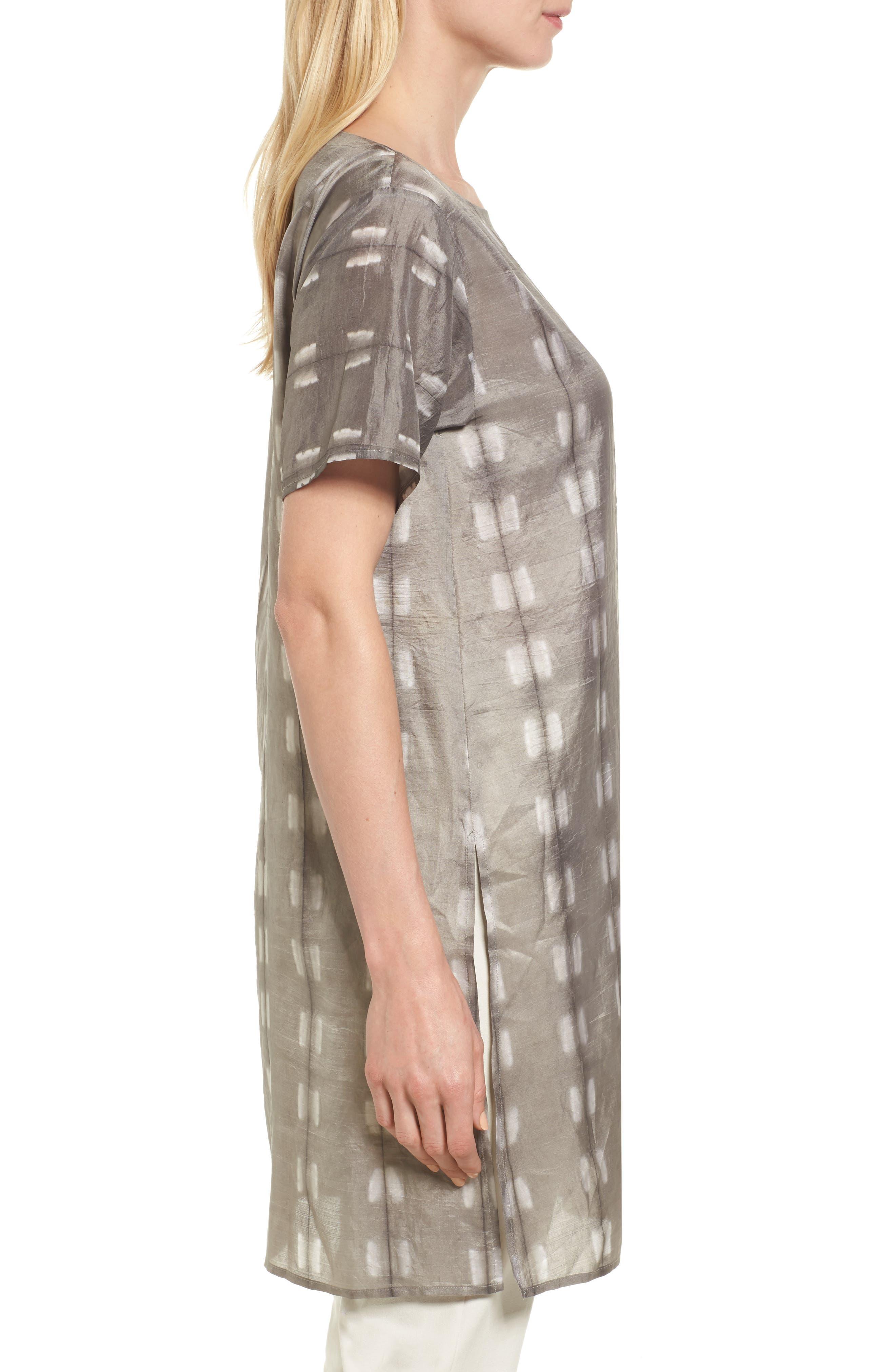 Alternate Image 3  - Eileen Fisher Bateau Neck Silk Tunic