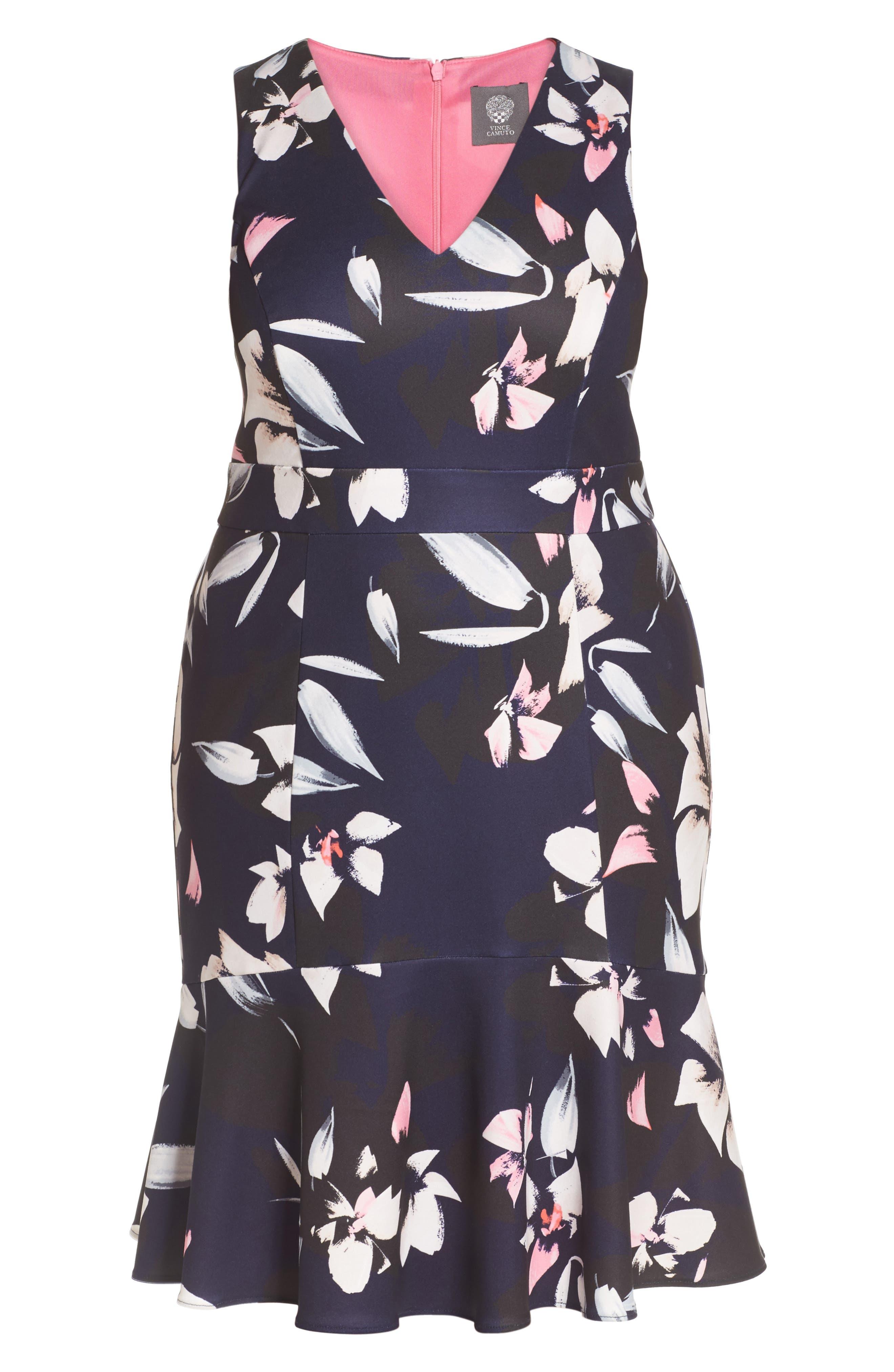 Sheath Dress,                             Alternate thumbnail 6, color,                             Blue Multi
