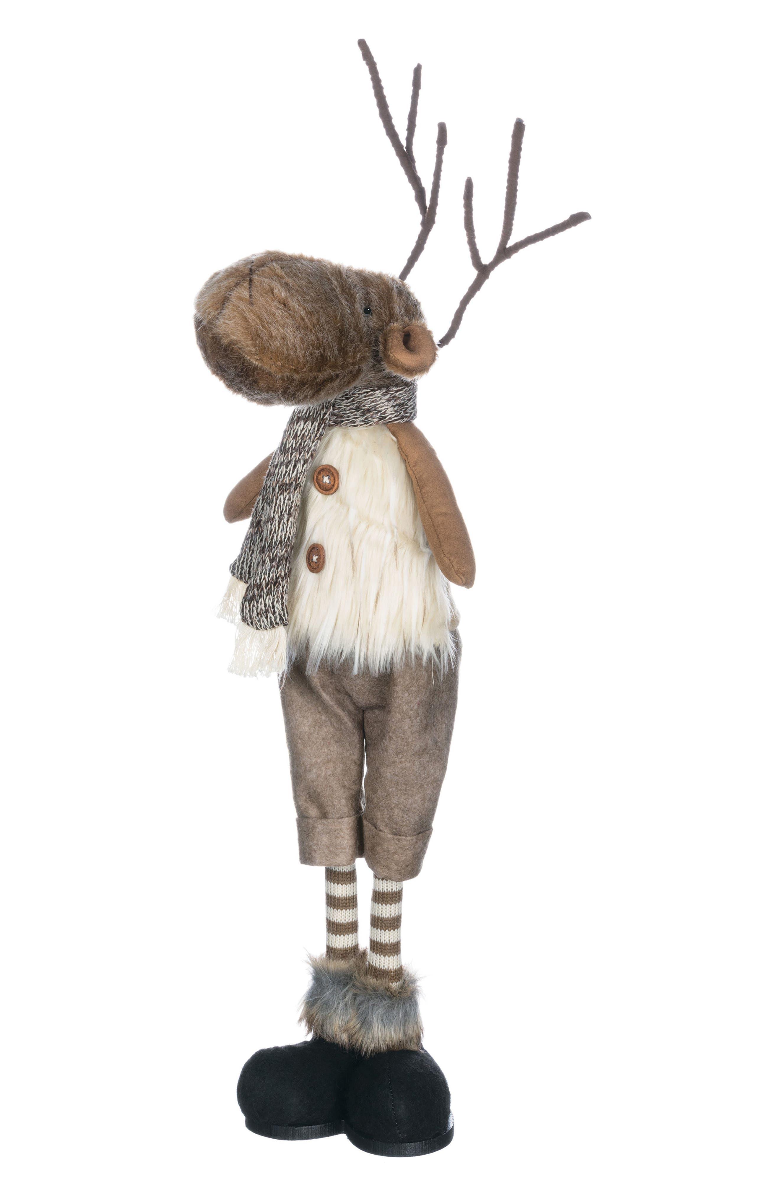 Reindeer Figurine,                         Main,                         color, Brown