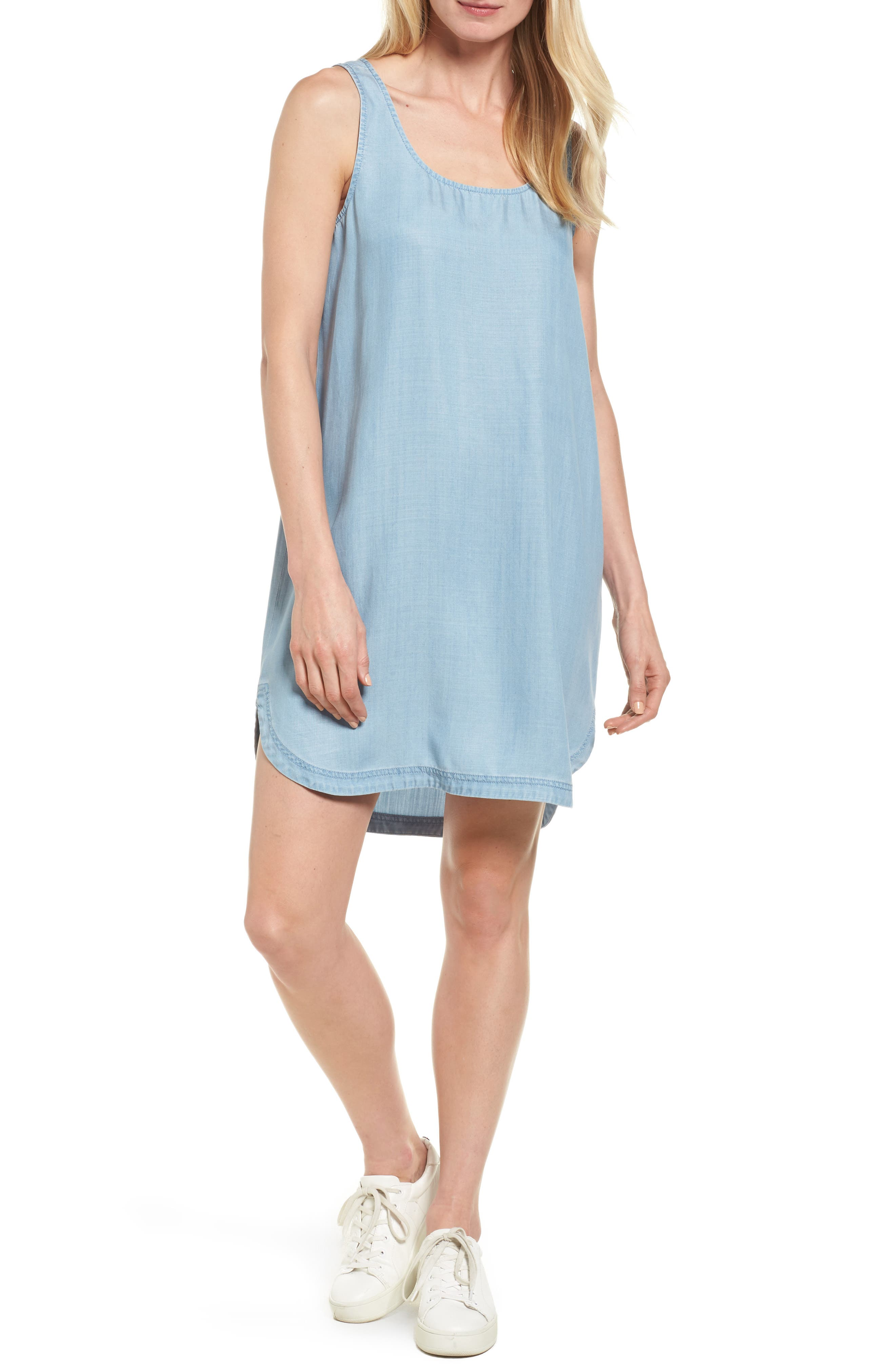 Two by Vince Camuto Chambray Shift Dress