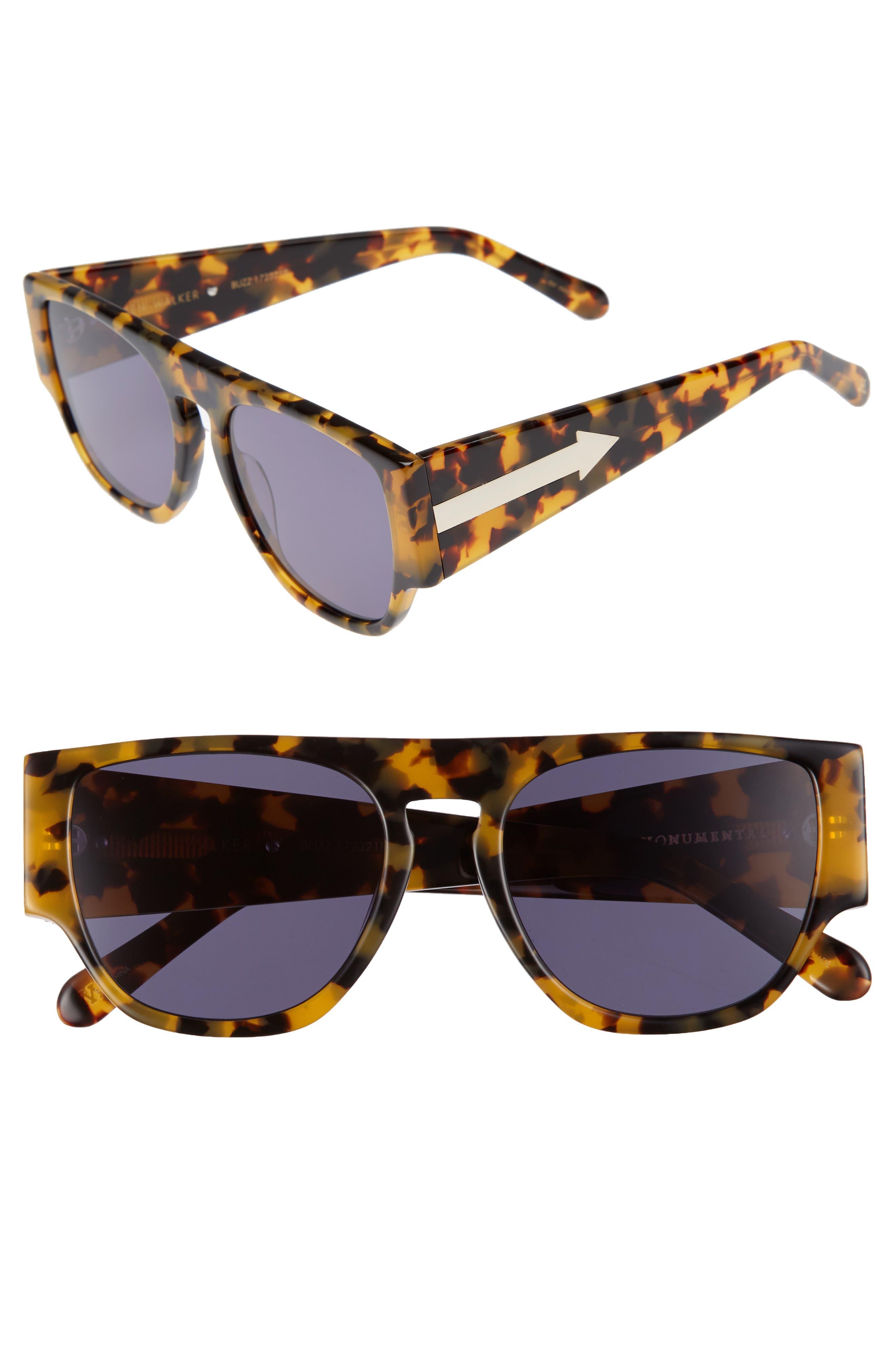 x Monumental Buzz 54mm Polarized Sunglasses,                             Main thumbnail 1, color,                             Crazy Tortoise