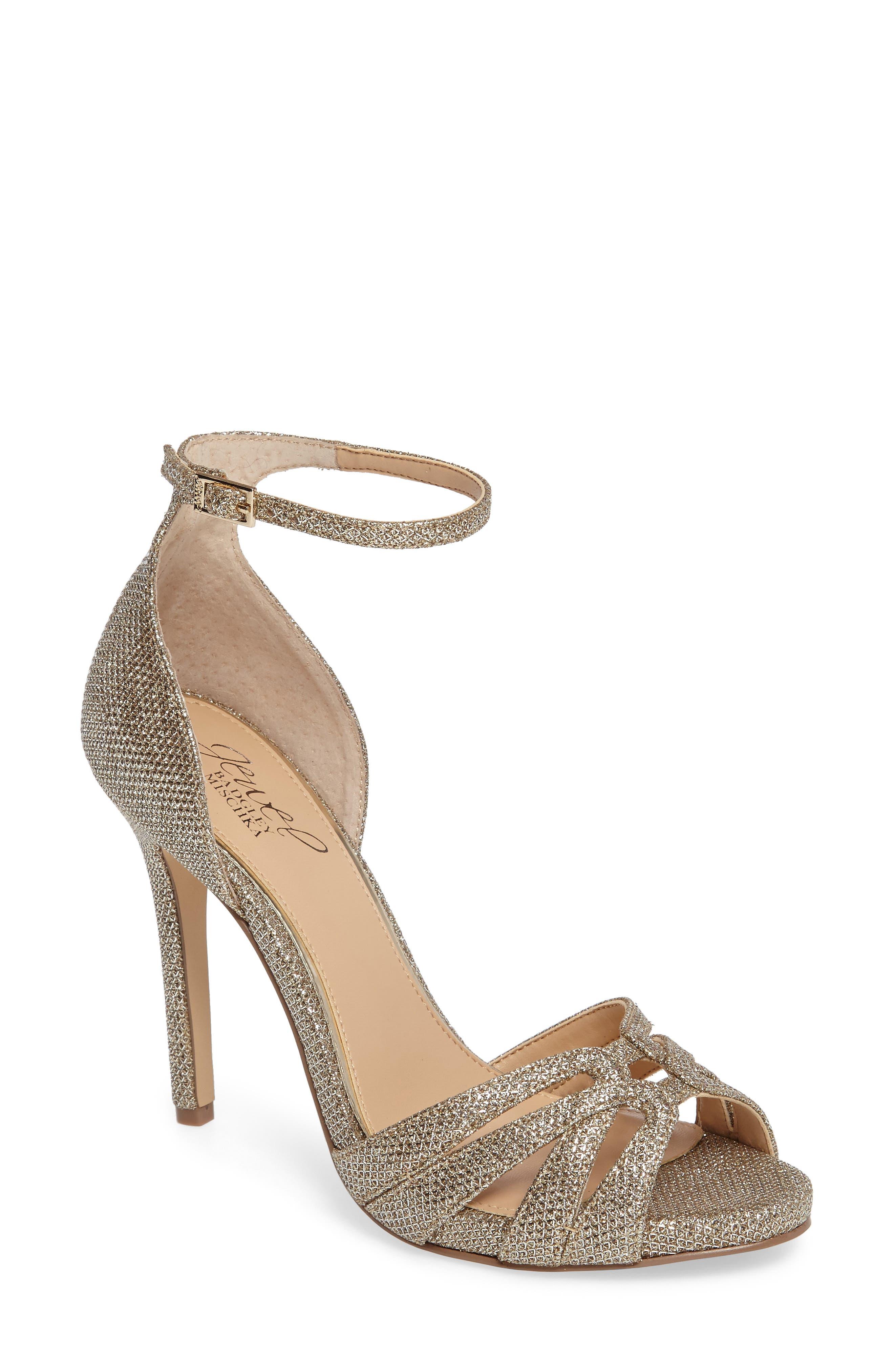 Jewel Badgley Mischka Loyal Glitter Sandal (Women)