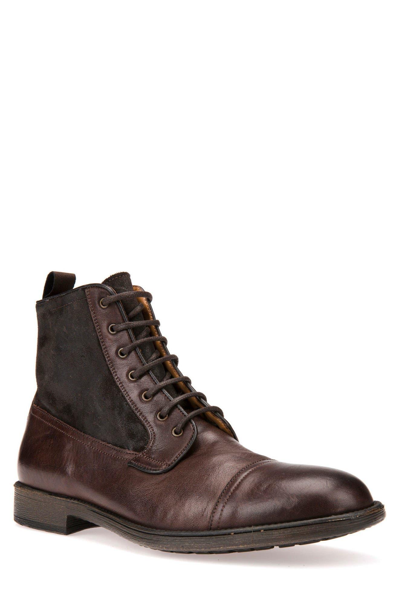GEOX Jaylon 12 Cap-Toe Boot