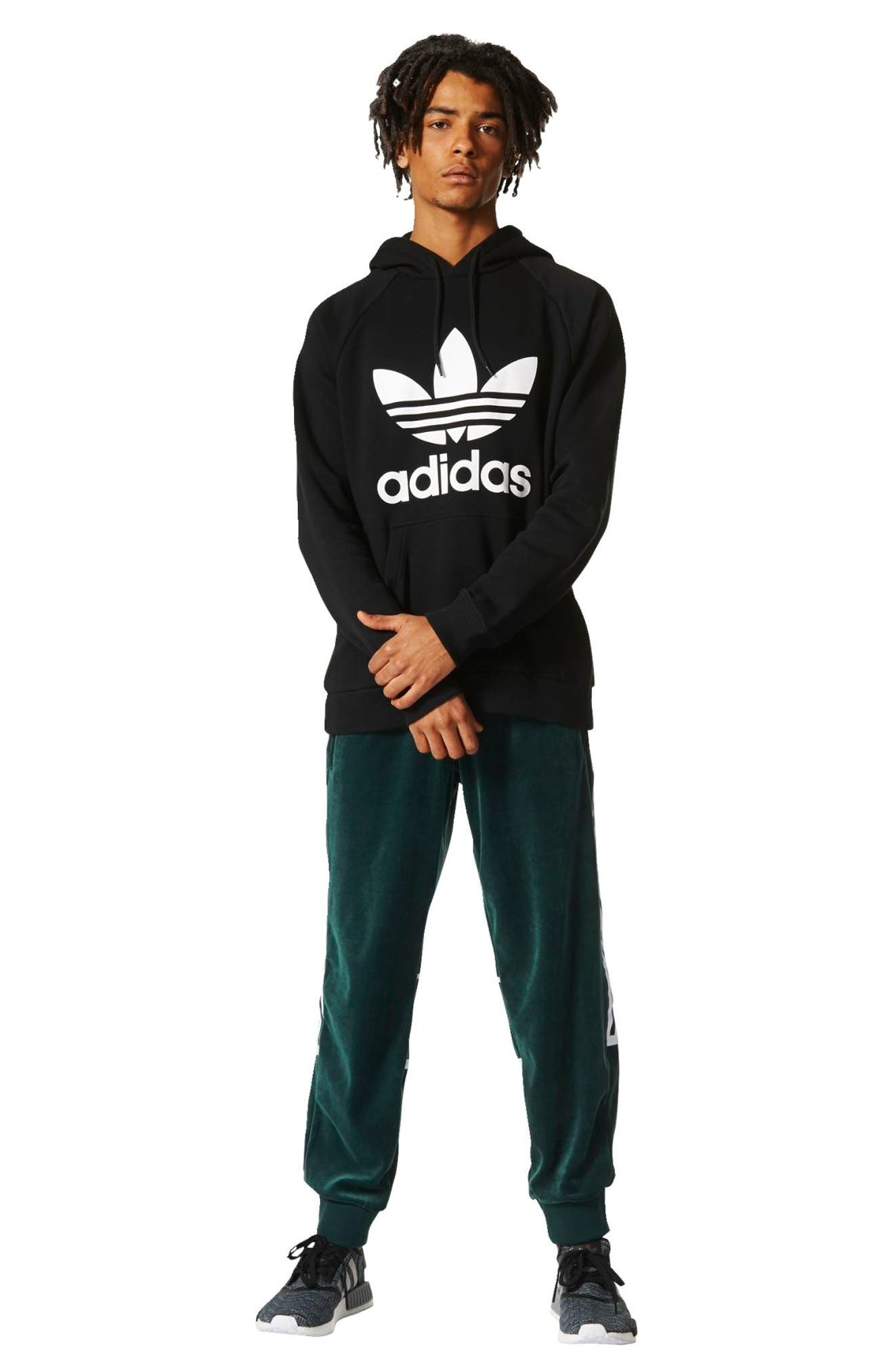 Alternate Image 4  - adidas Originals Trefoil Graphic Hoodie