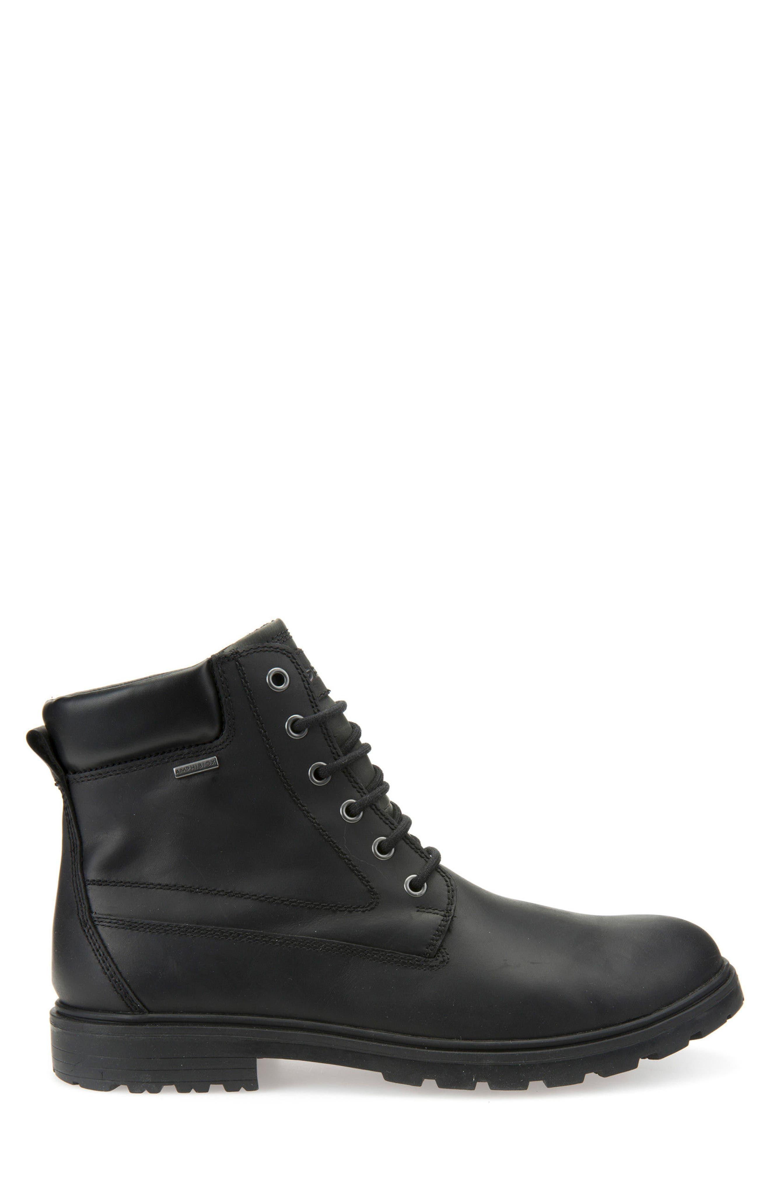 Makim Waterproof Plain Toe Boot,                             Alternate thumbnail 3, color,                             Black