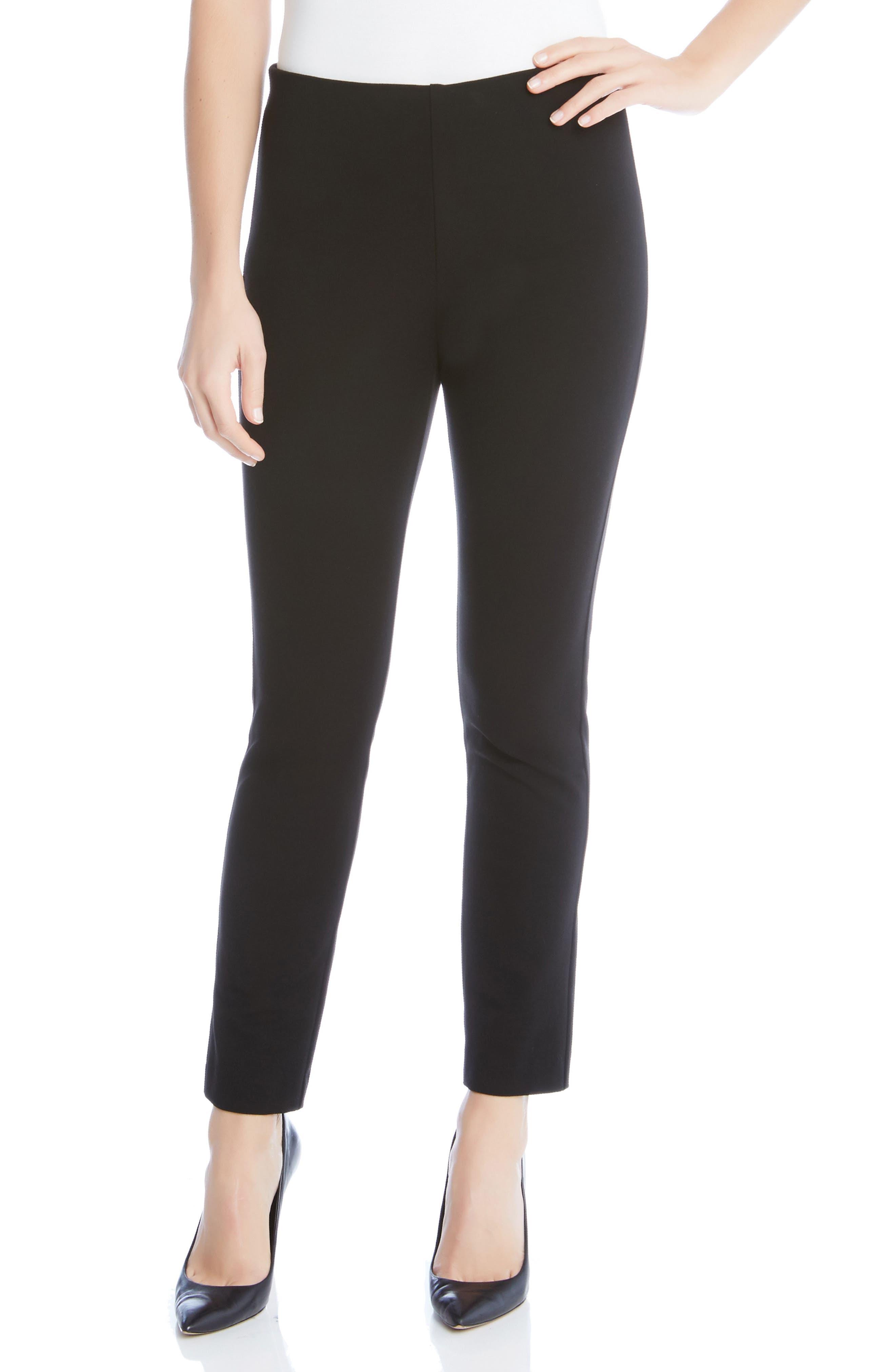 Piper Skinny Ankle Pants,                             Main thumbnail 1, color,                             Black