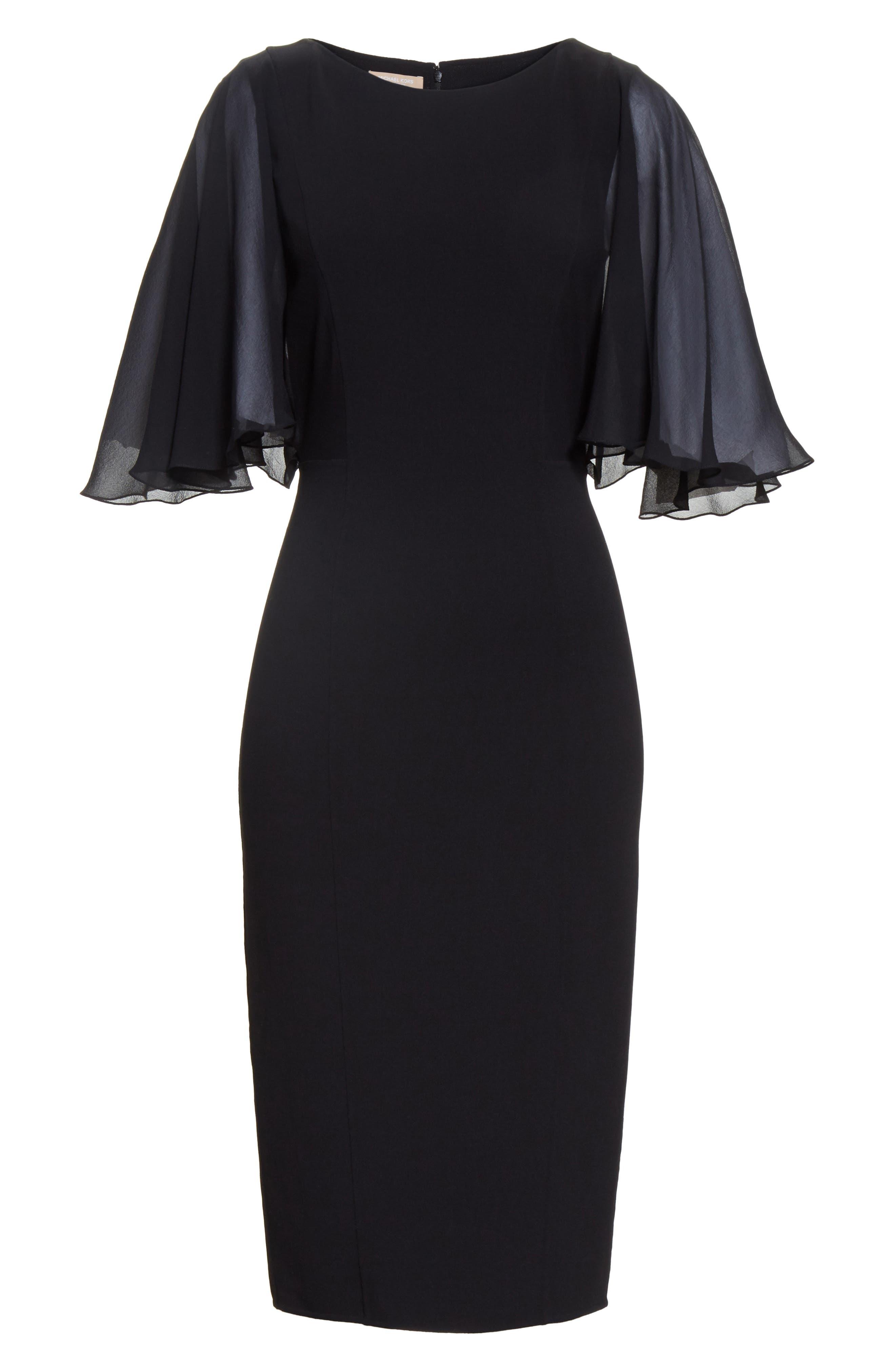 Alternate Image 6  - Michael Kors Draped Chiffon Sleeve Dress
