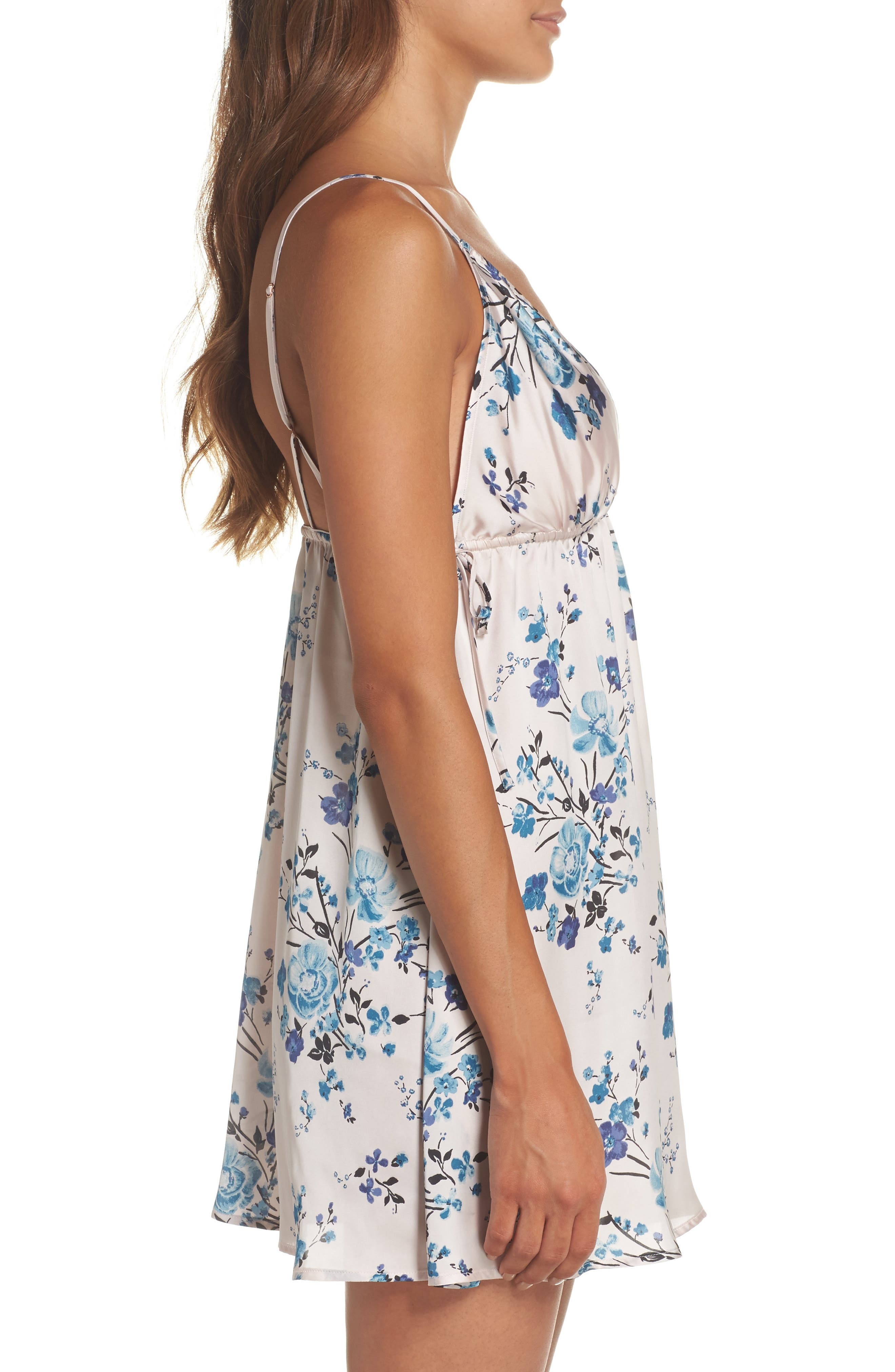 In My Dreams Chemise,                             Alternate thumbnail 3, color,                             Pink Morn Pretty Floral