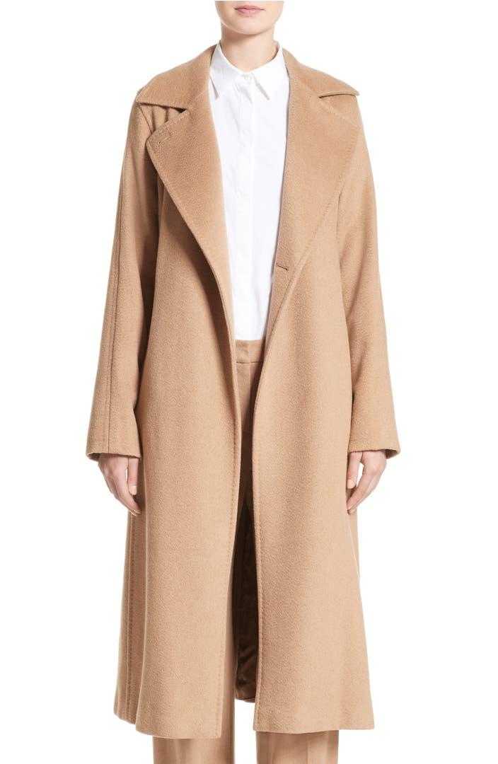 max mara 39 manuela 39 camel hair coat nordstrom. Black Bedroom Furniture Sets. Home Design Ideas