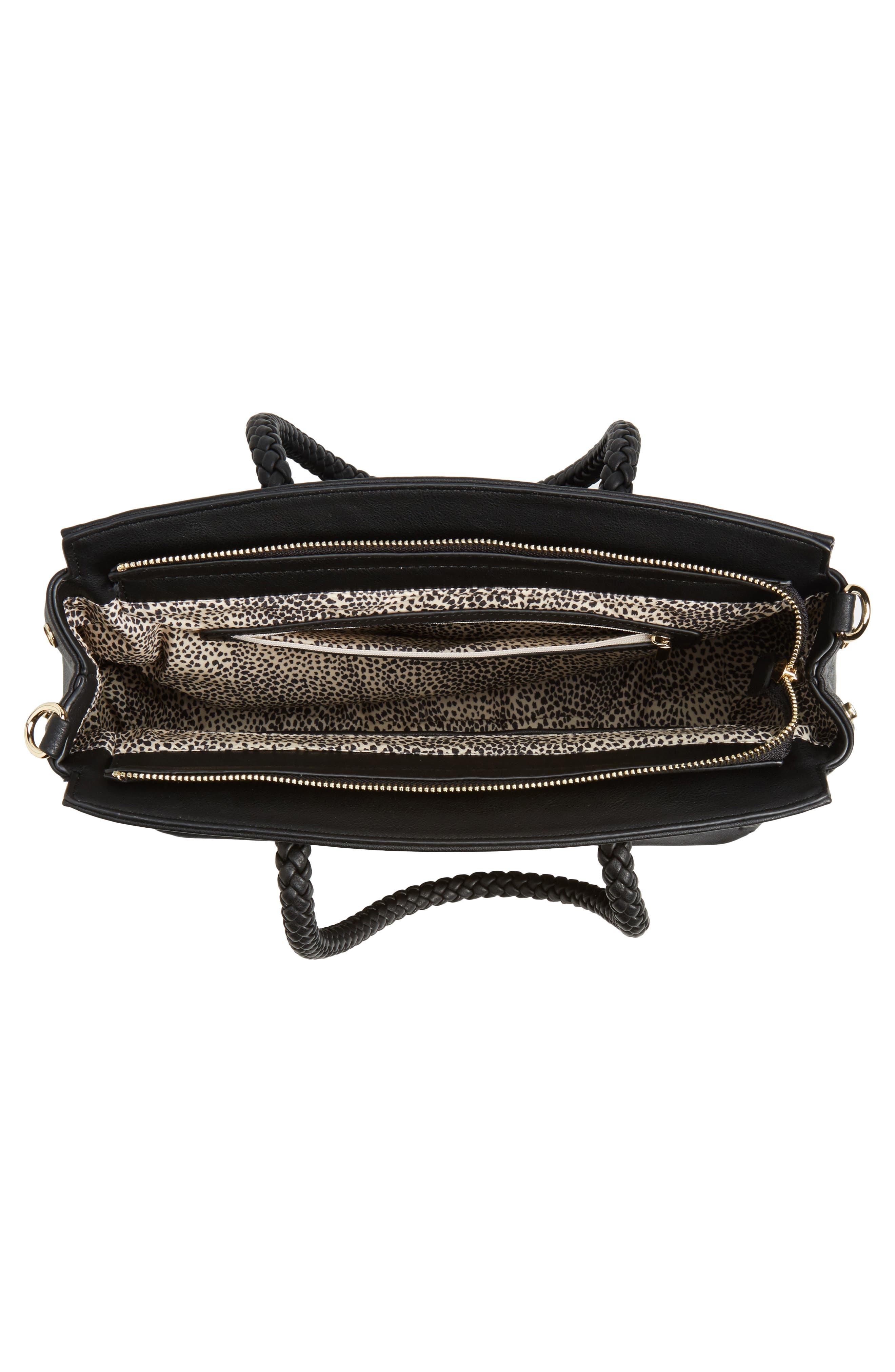 Alternate Image 6  - Sole Society Lexington Whipstitch Faux Leather Satchel
