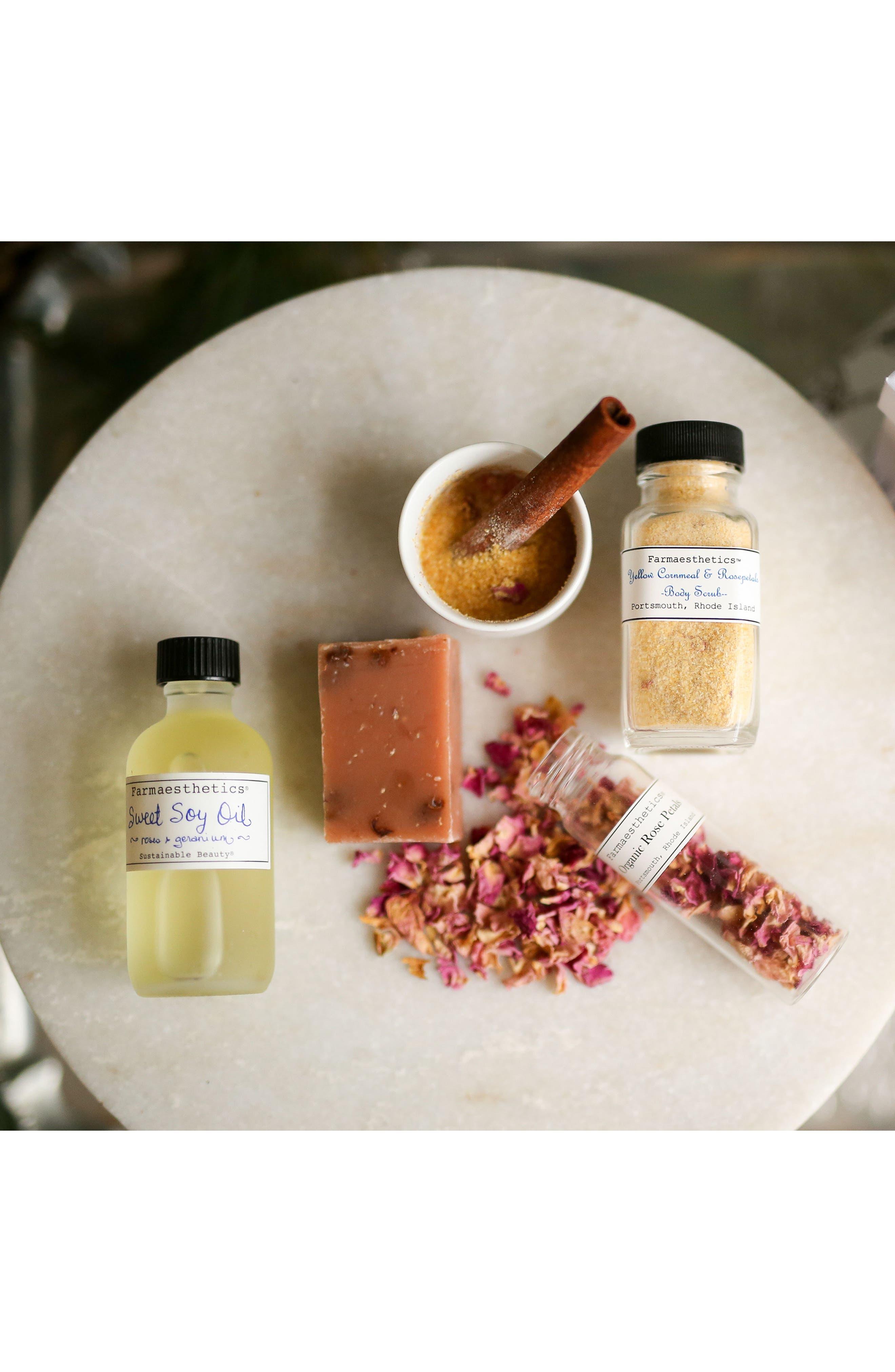Roses & Geranium Sweet Soy Bath & Beauty Oil,                             Alternate thumbnail 2, color,                             No Color
