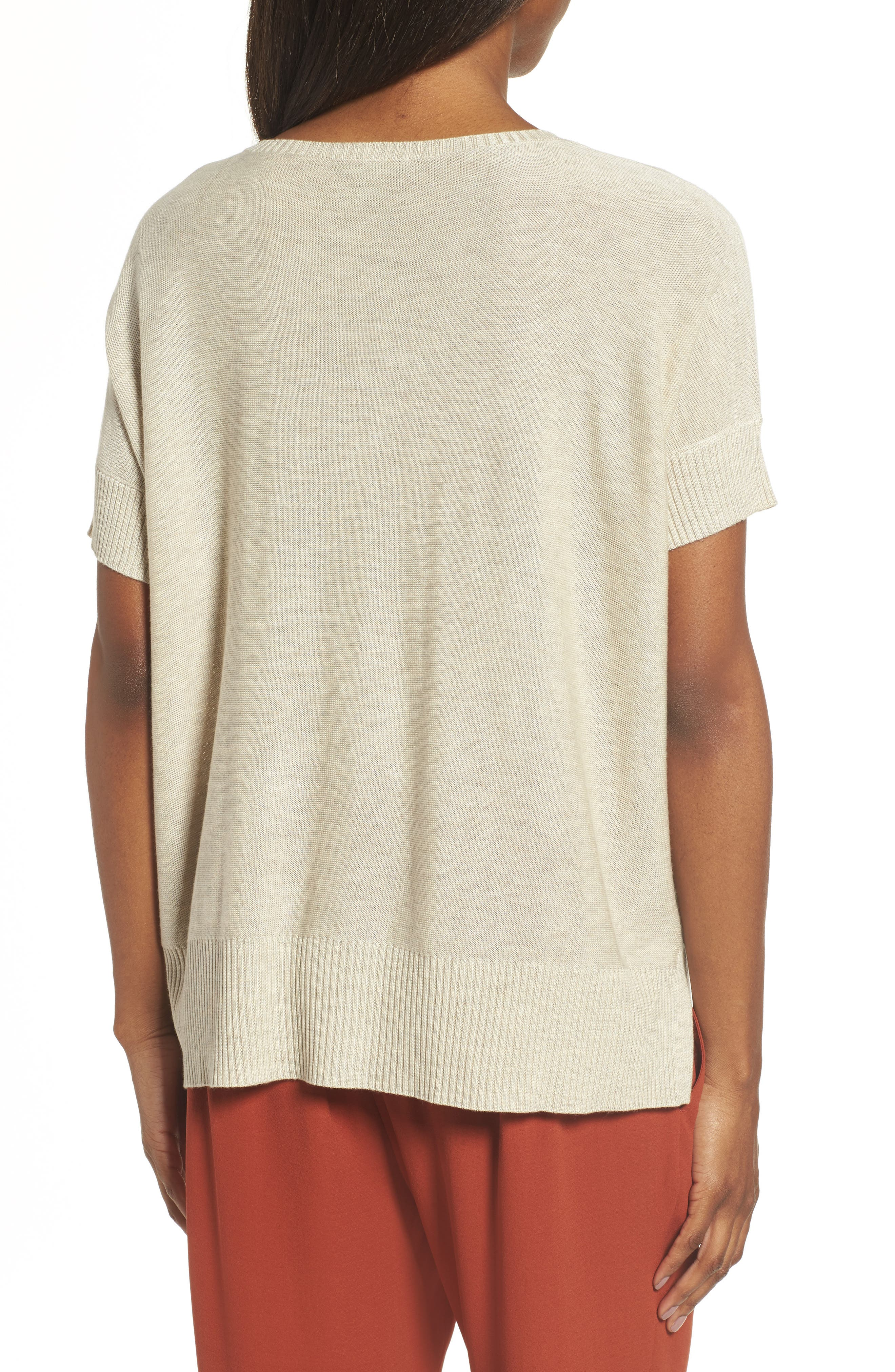 Tencel<sup>®</sup> & Merino Wool Top,                             Alternate thumbnail 2, color,                             Maple Oat