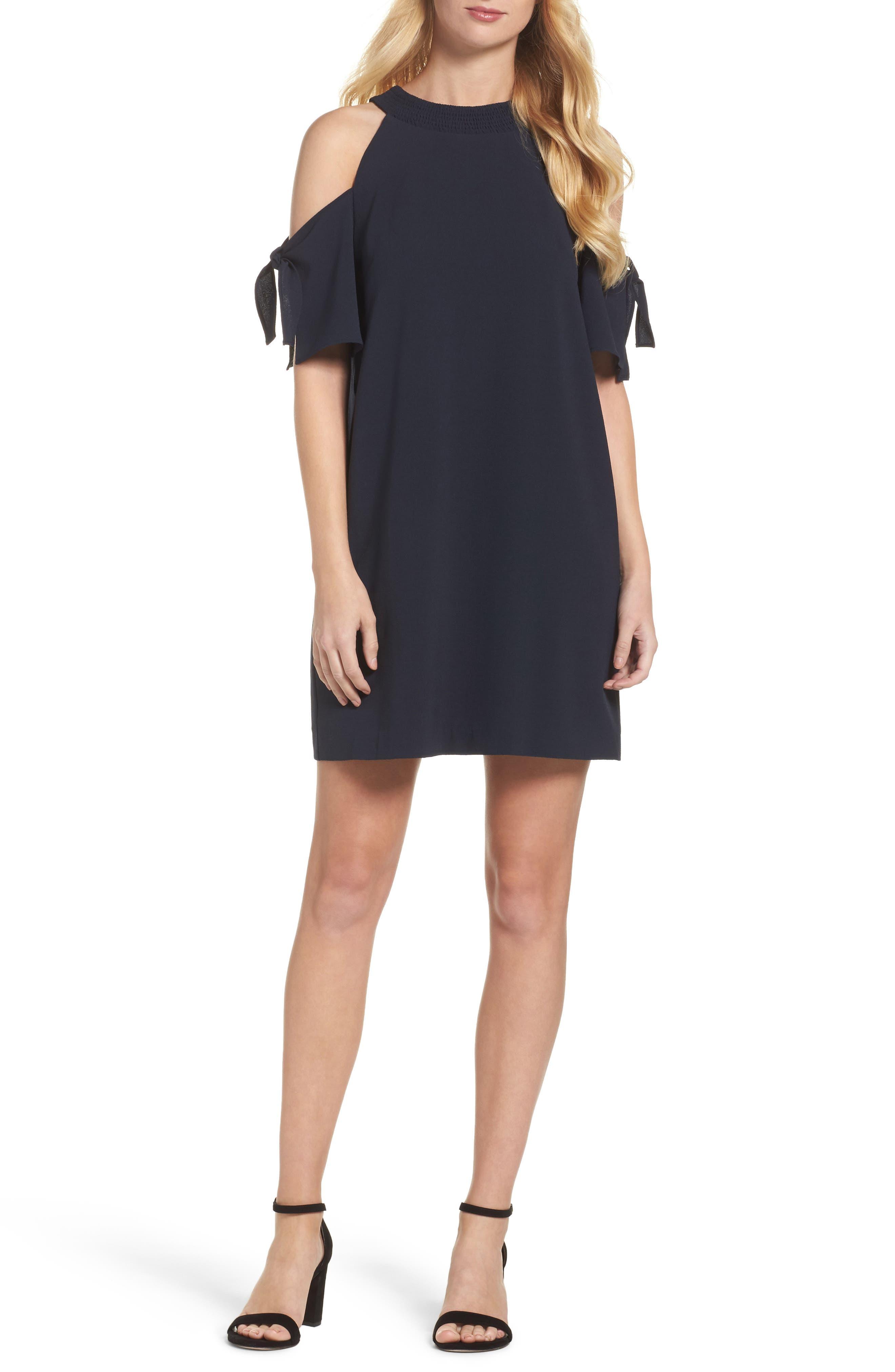 Felicity & Coco Cold Shoulder Shift Dress (Regular & Petite) (Nordstrom Exclusive)