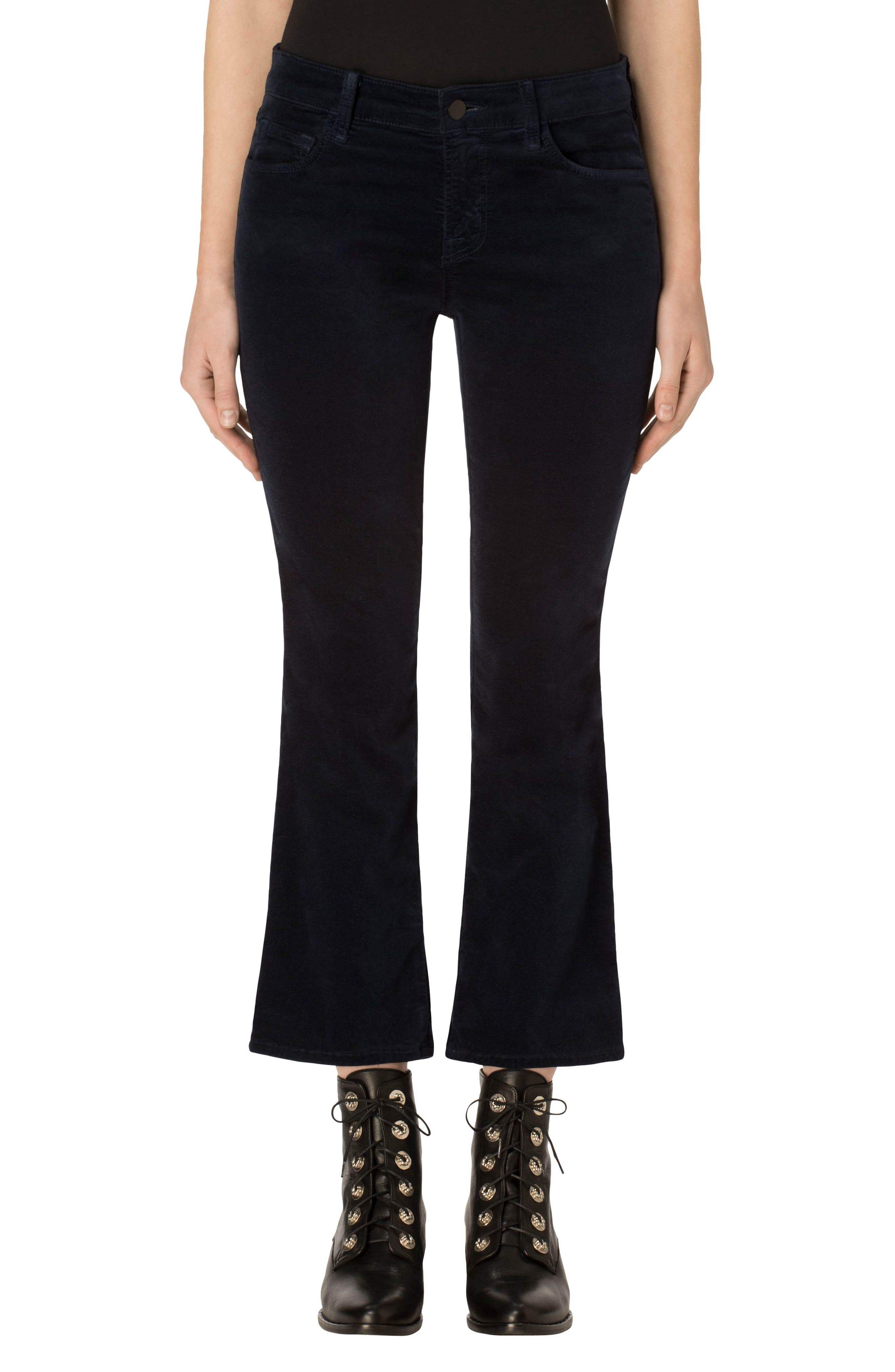 Selena Crop Bootcut Jeans,                             Main thumbnail 1, color,                             Dark Iris