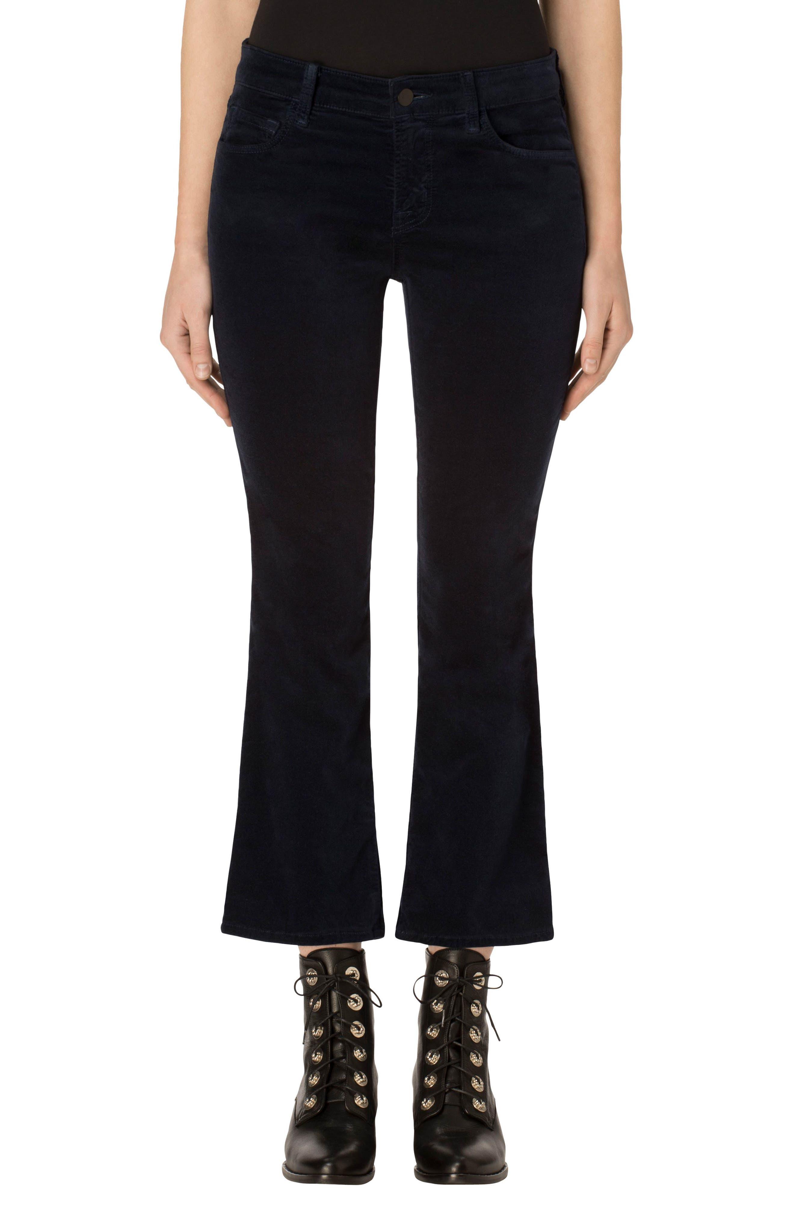 Selena Crop Bootcut Jeans,                         Main,                         color, Dark Iris