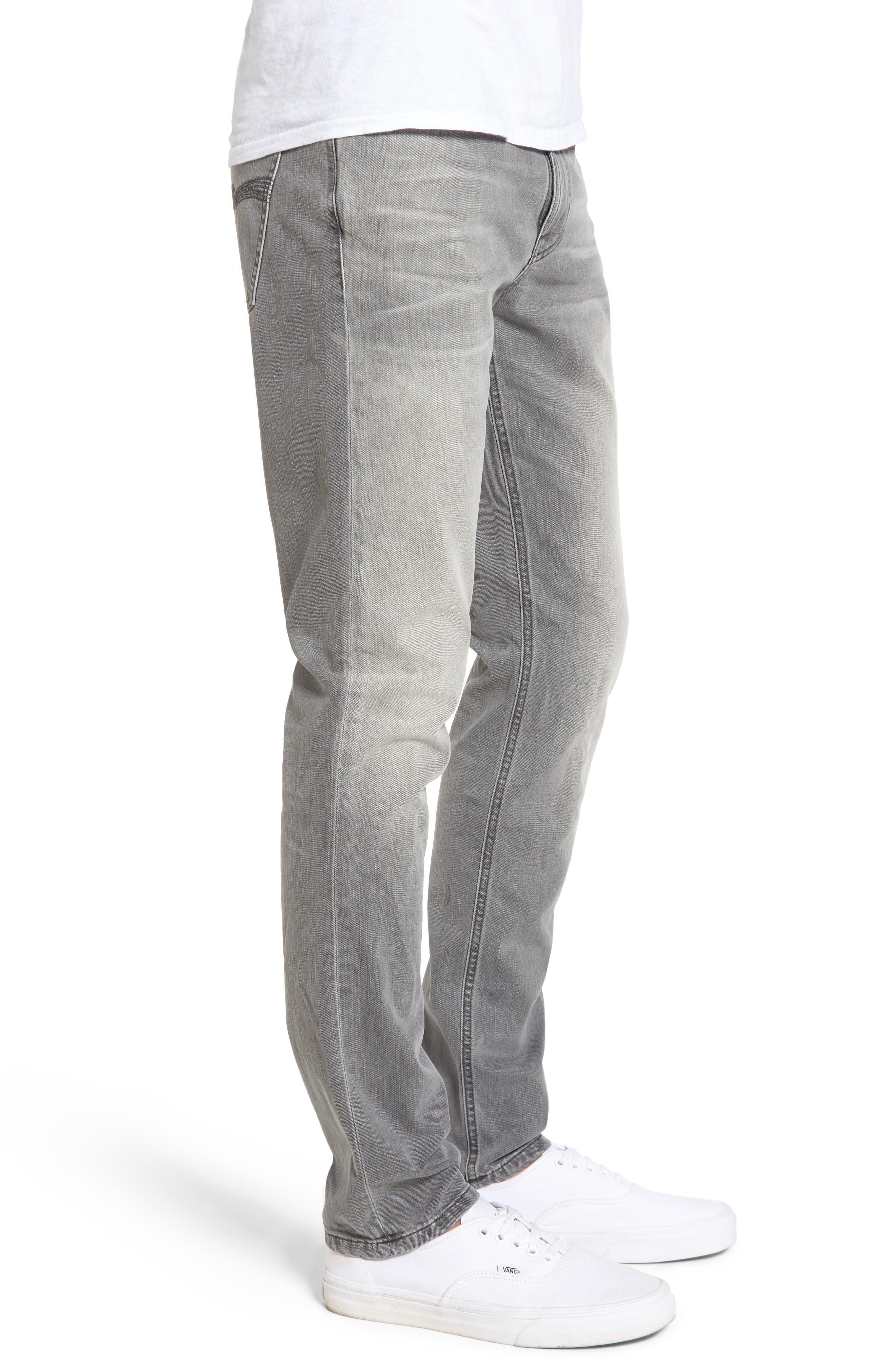 Alternate Image 3  - Nudie Jeans Lean Dean Slouchy Skinny Fit Jeans (Grey Ace)