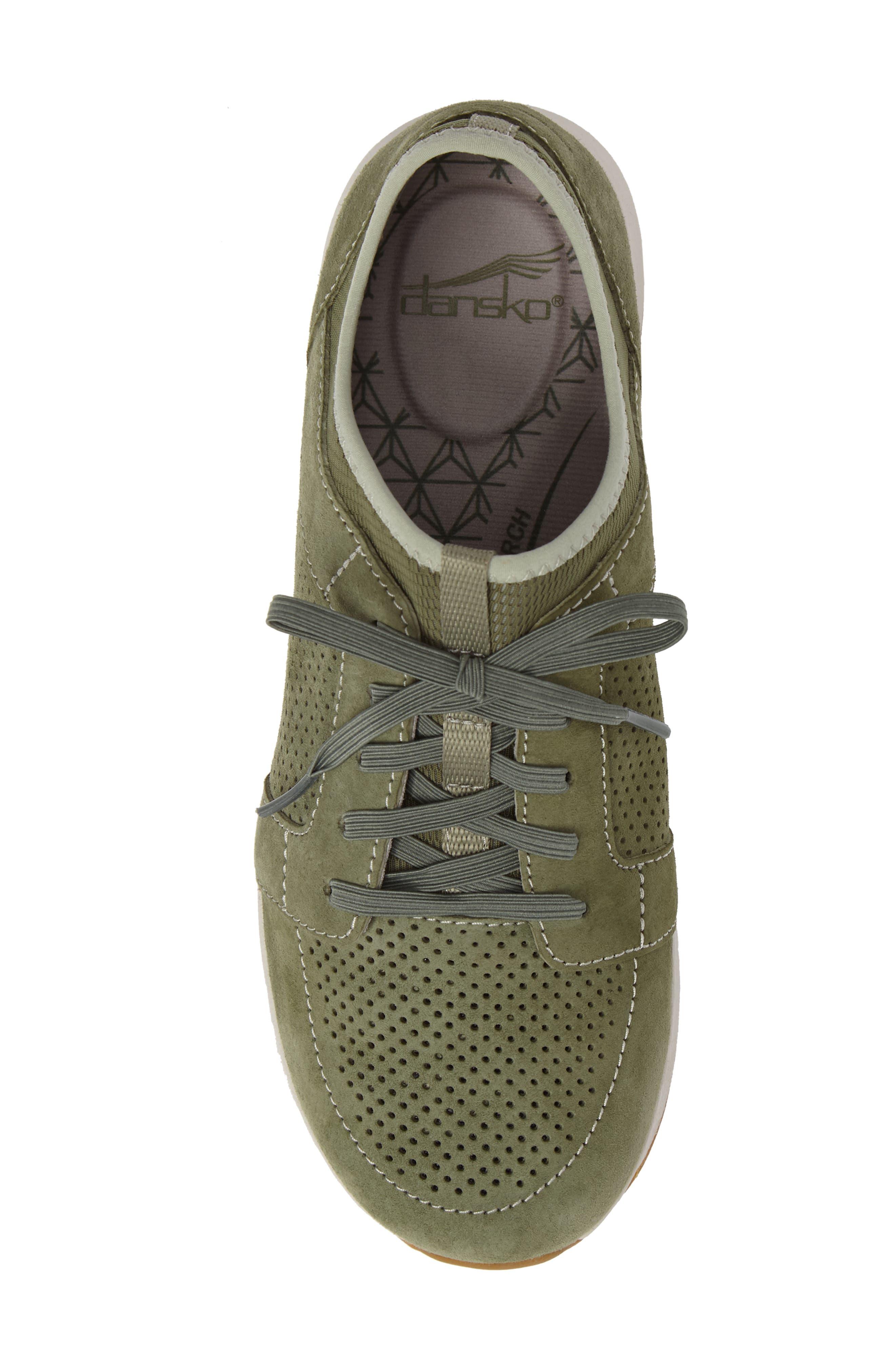 Cozette Slip-On Sneaker,                             Alternate thumbnail 5, color,                             Sage Suede