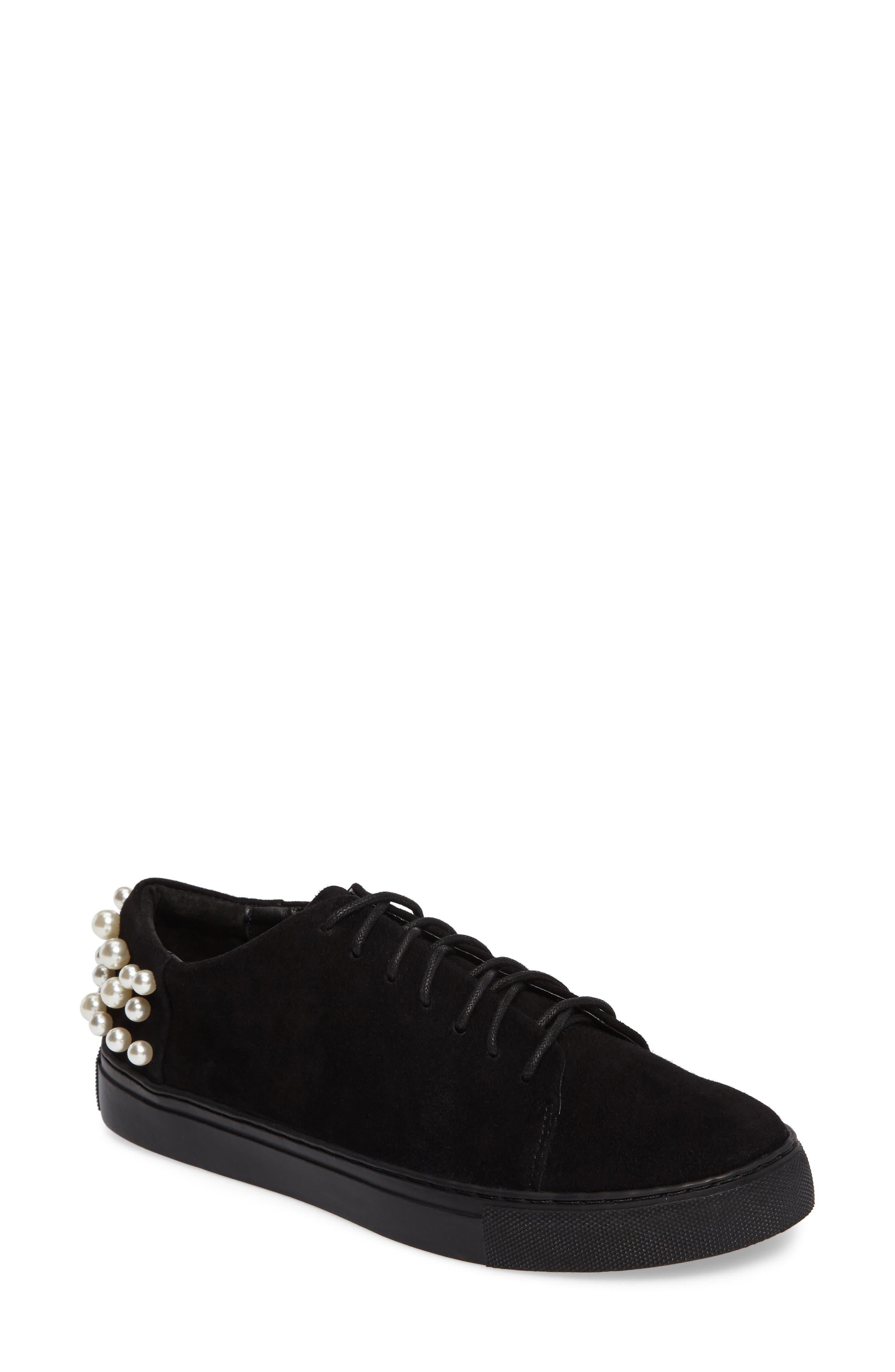 Haig Embellished Sneaker,                             Main thumbnail 1, color,                             Black