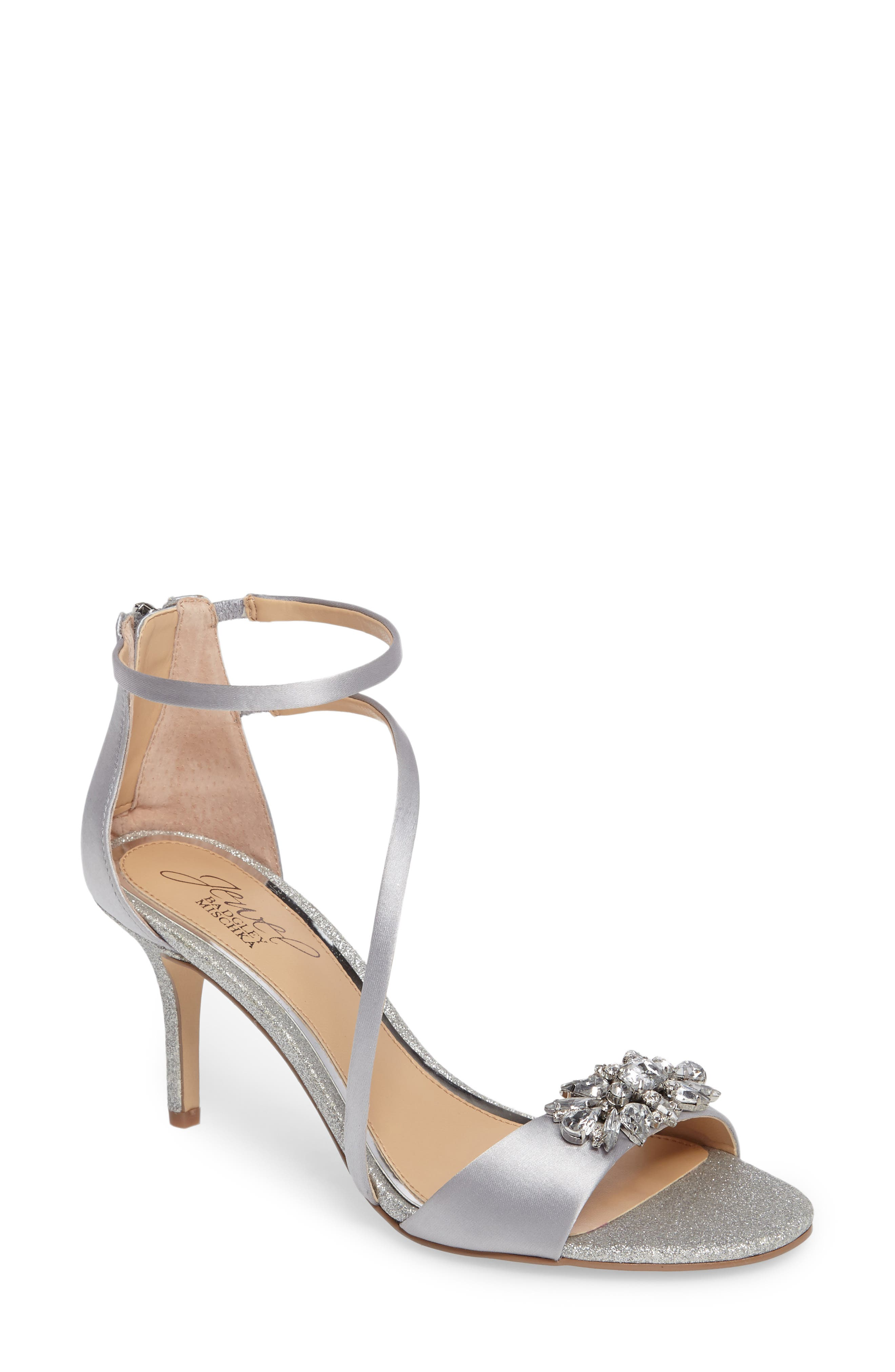 Main Image - Jewel Badgley Mischka Leighton Embellished Strappy Sandal (Women)