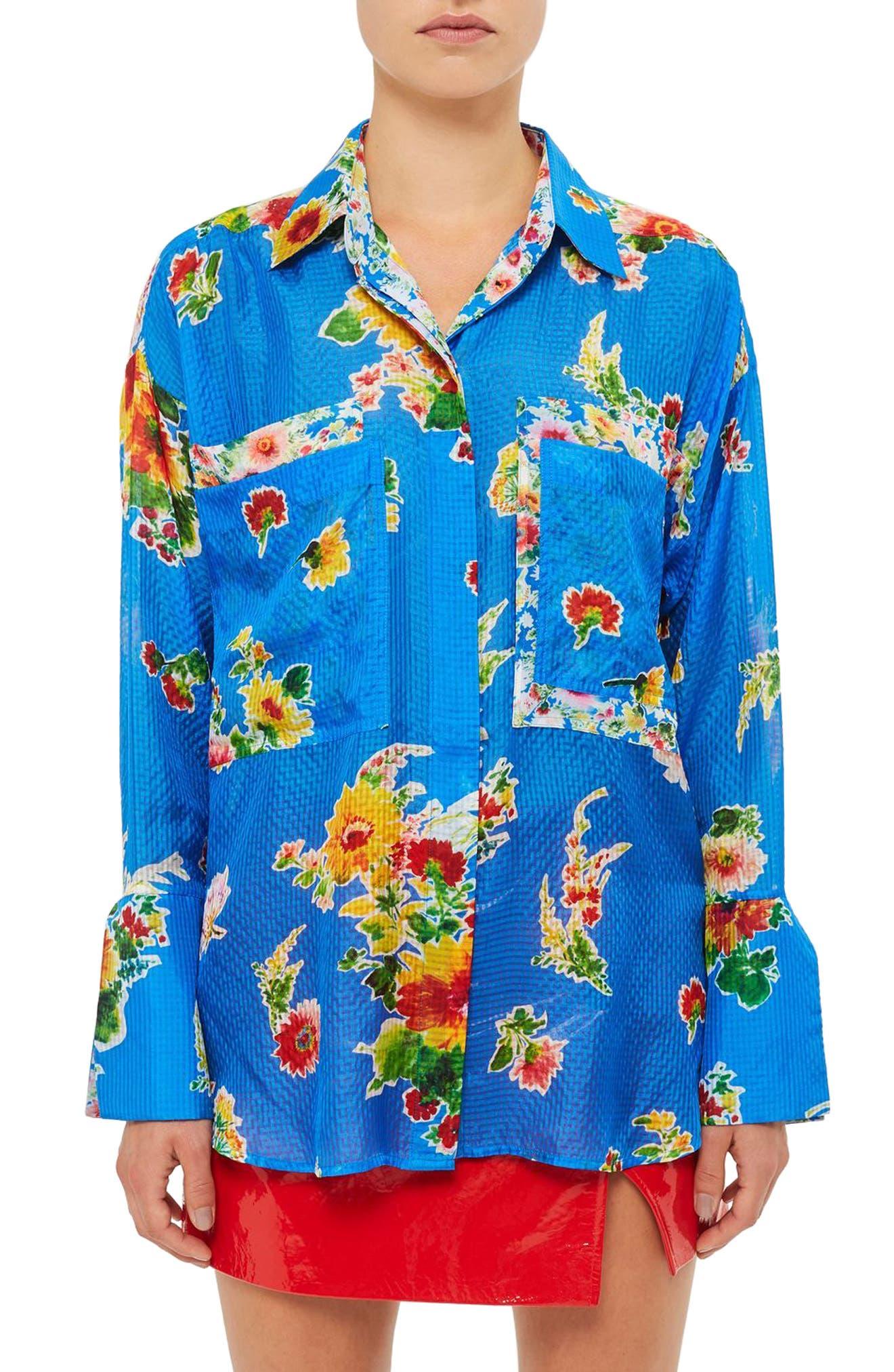 TOPSHOP UNIQUE Sound Garden Silk Shirt