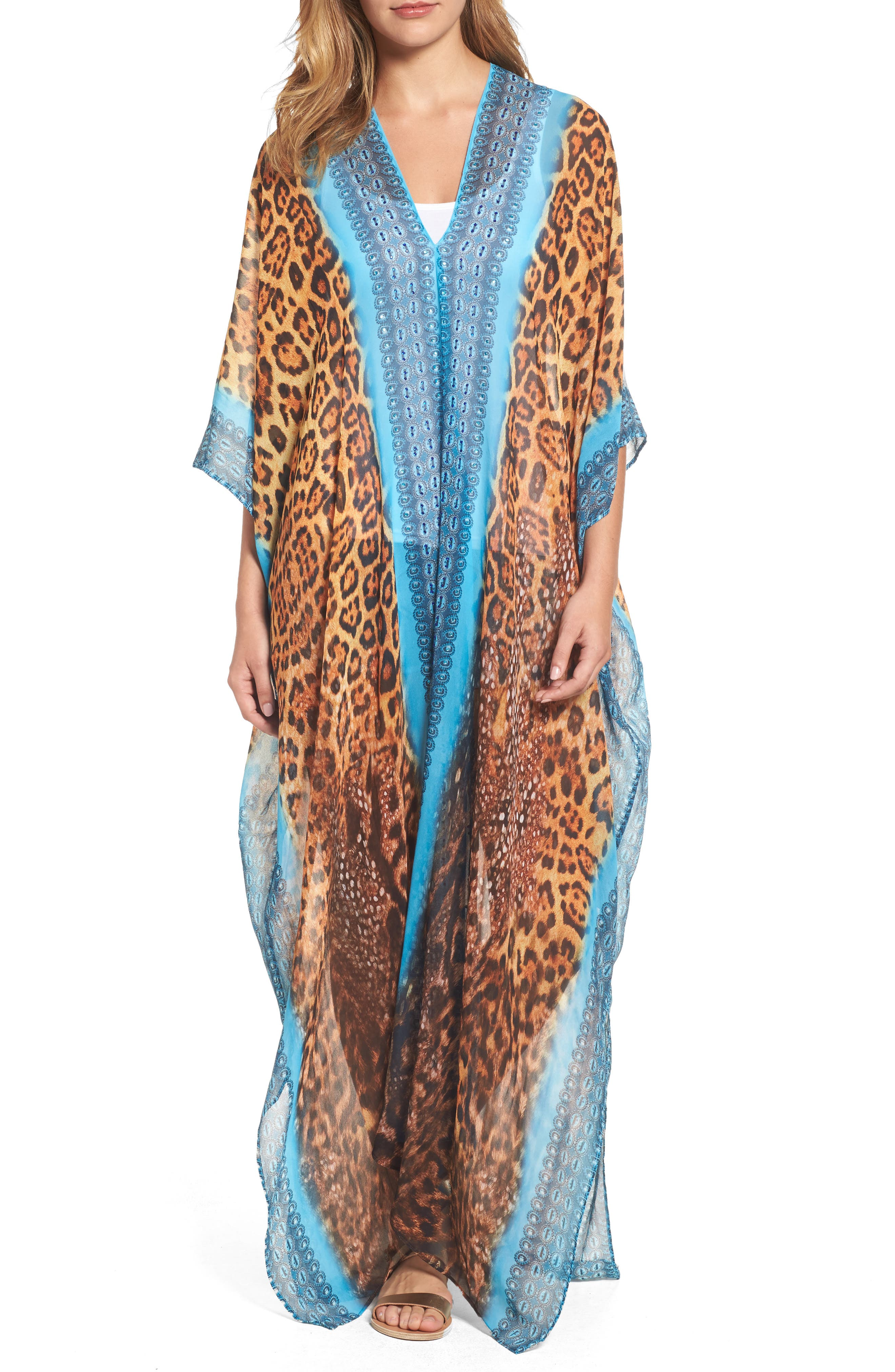 Alternate Image 1 Selected - Asa Kaftans Isfahan Desert Long Kaftan