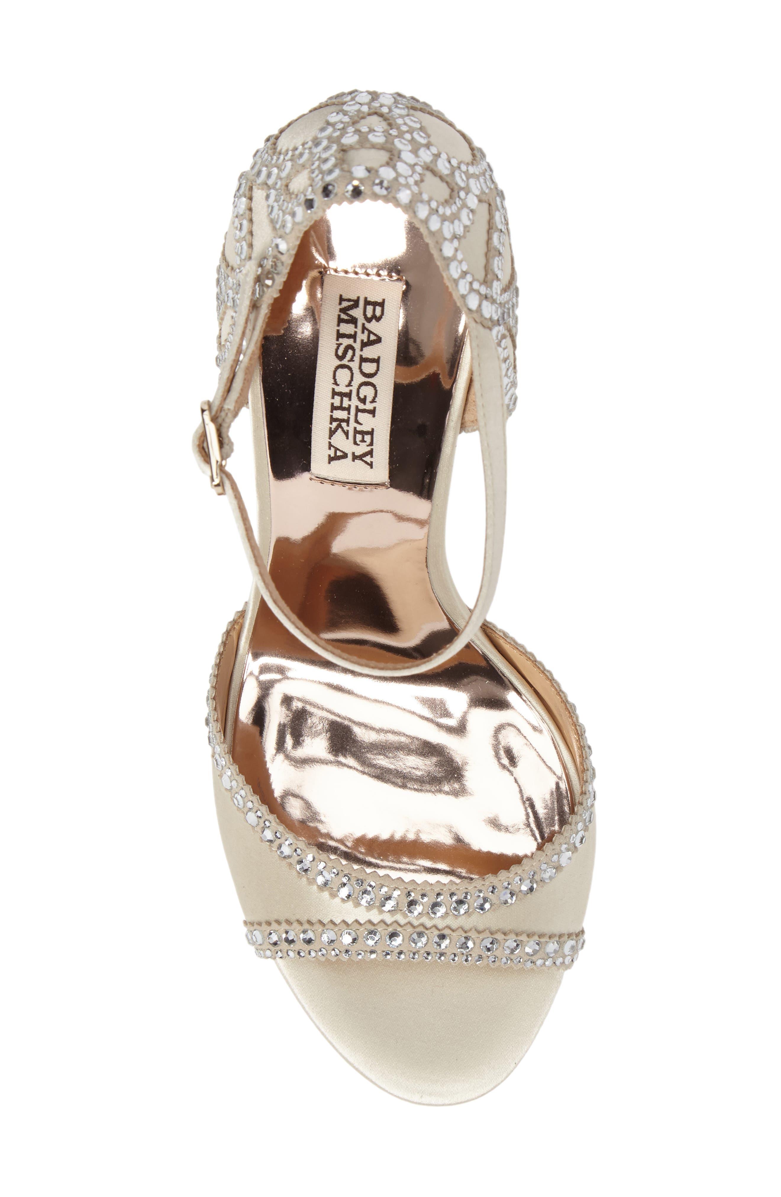 Alternate Image 5  - Badgley Mischka Kelly Embellished Crescent Heel Sandal (Women)