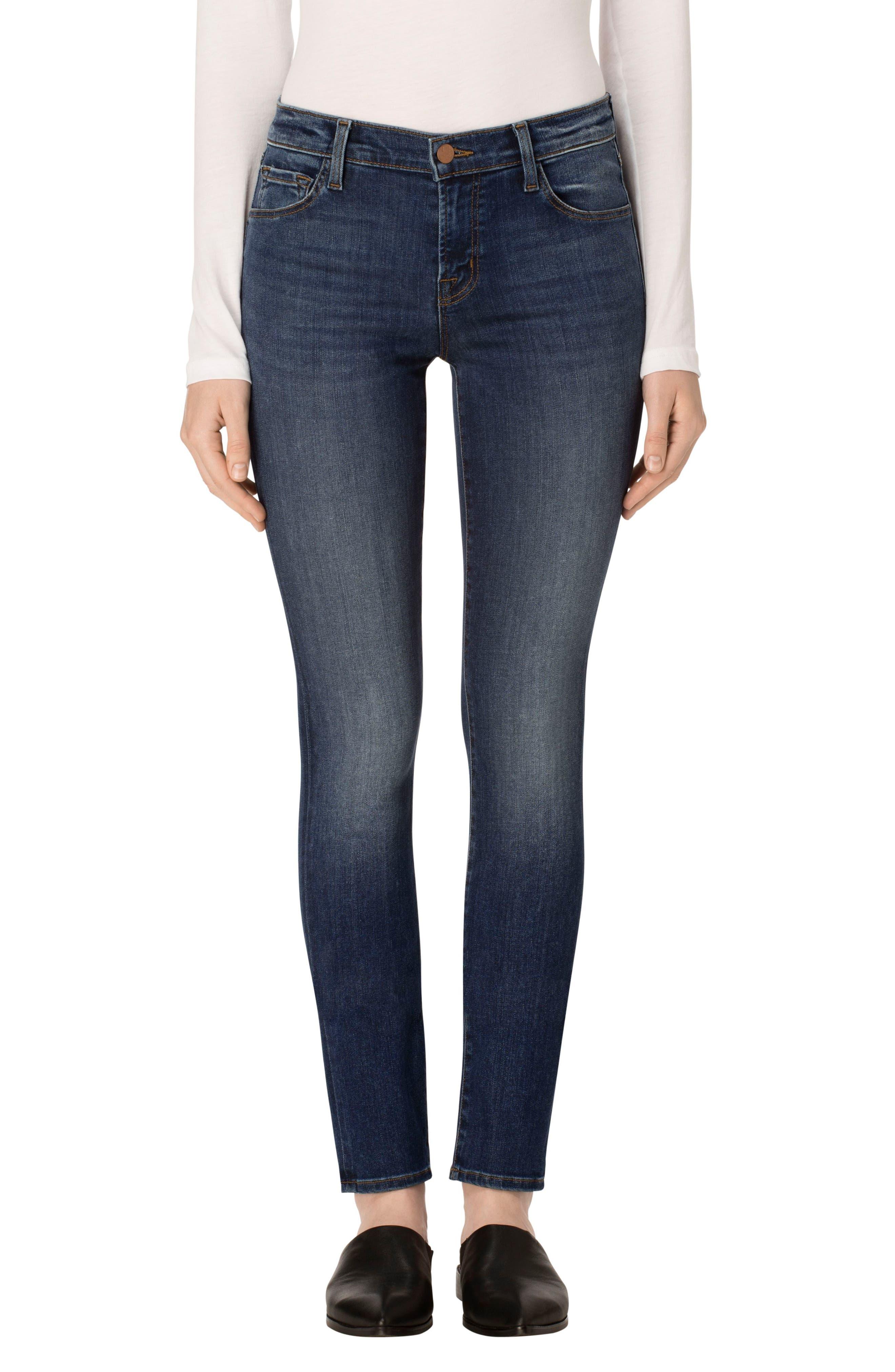 J Brand Mid Rise Super Skinny Jeans (Surrey Lane)