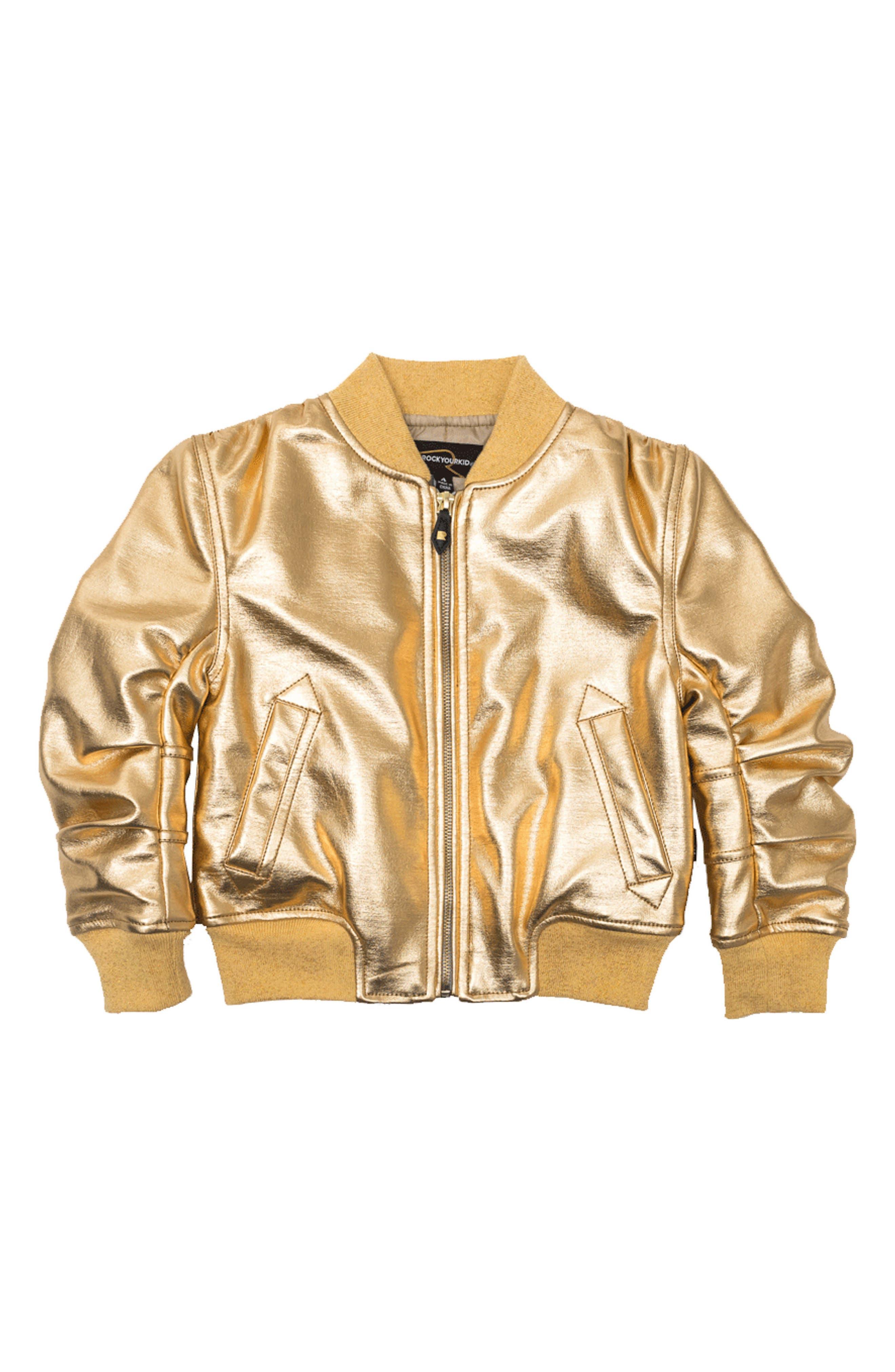 Studio 54 Bomber Jacket,                             Main thumbnail 1, color,                             Gold