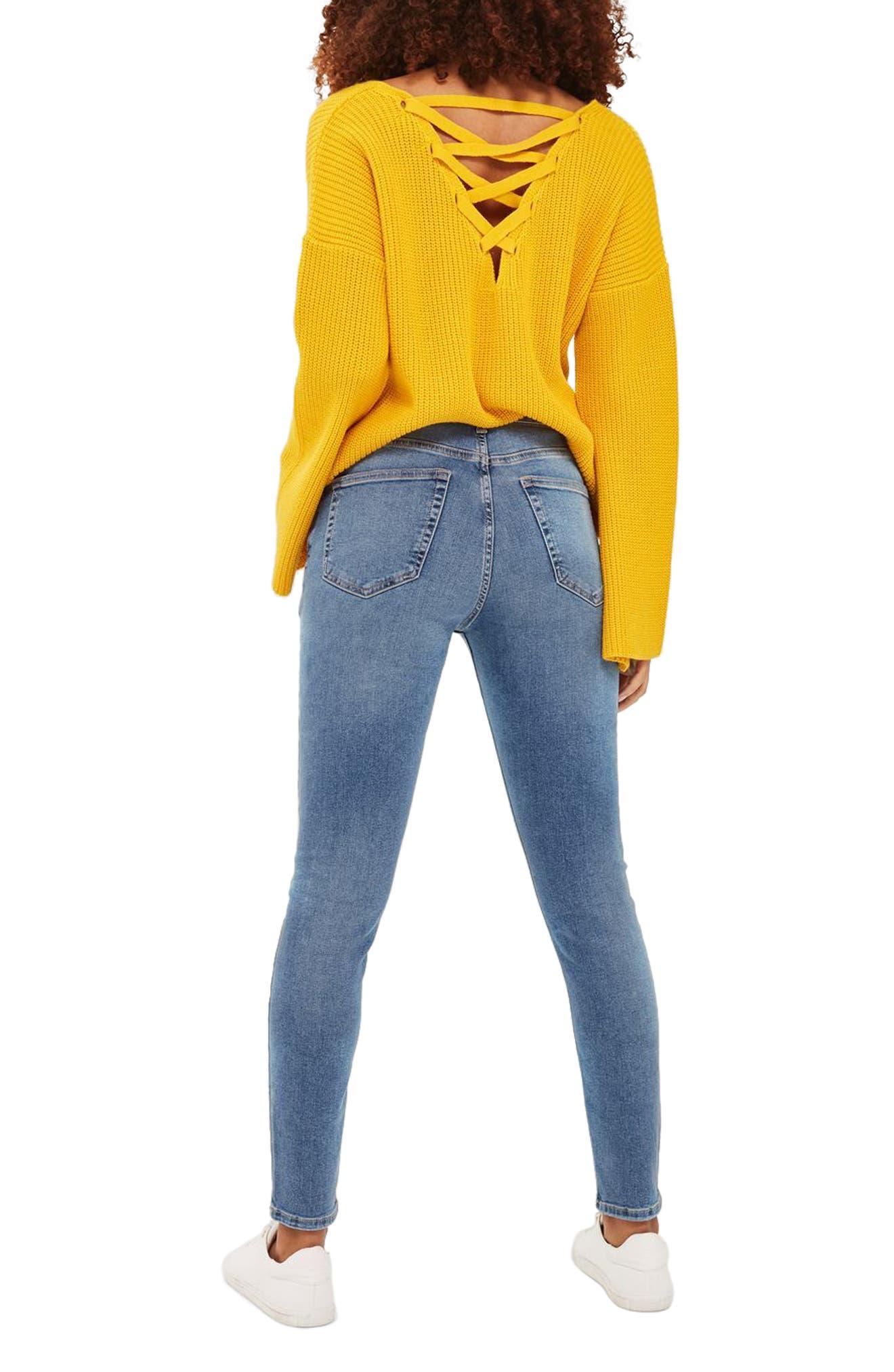 Alternate Image 3  - Topshop Jamie High Waist Skinny Jeans