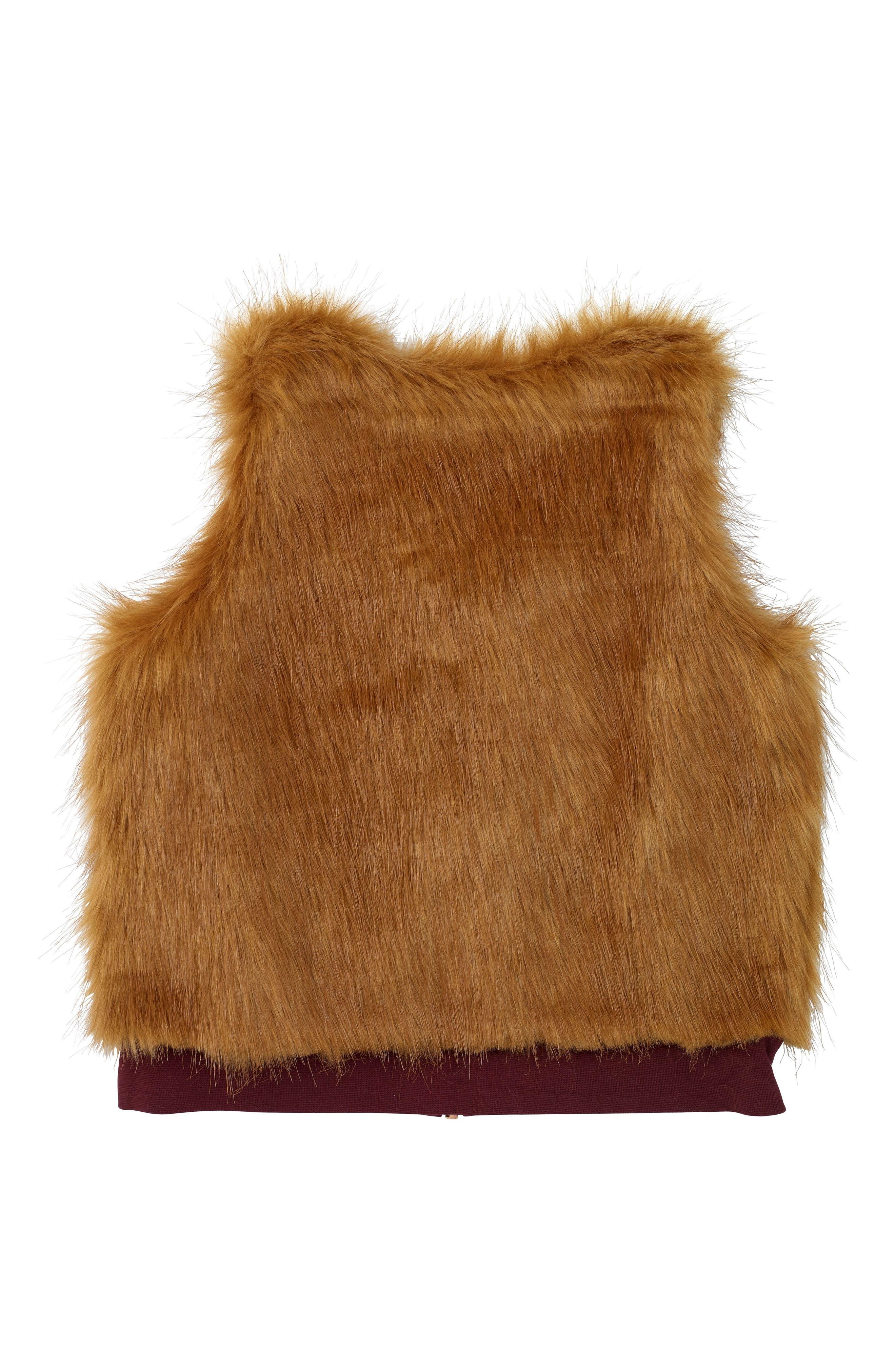 Alternate Image 4  - Masala Baby Faux Fur Vest (Baby Girls, Toddler Girls, Little Girls & Big Girls)