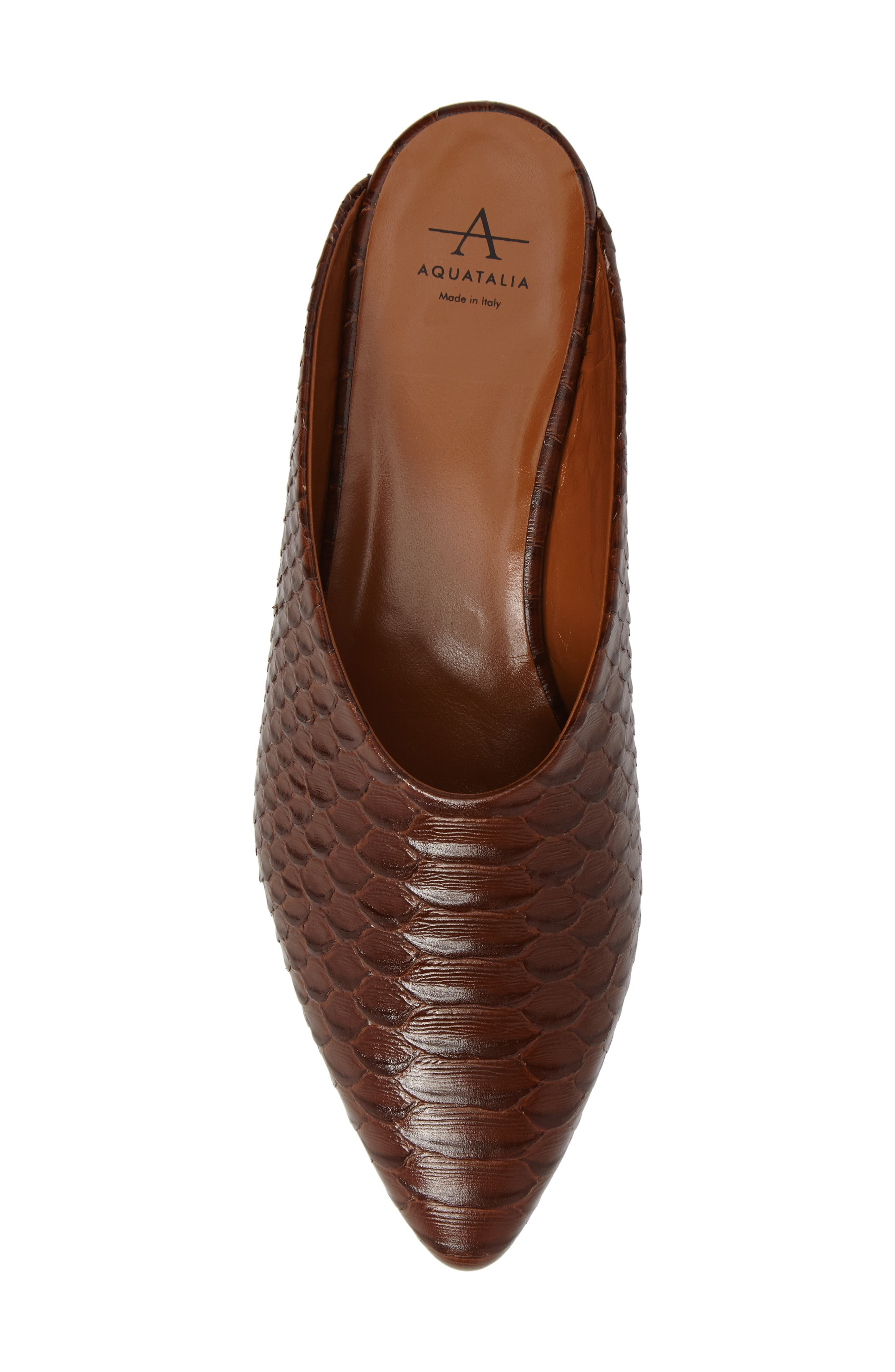 Patrizia Pointed Toe Mule,                             Alternate thumbnail 5, color,                             Brown Leather