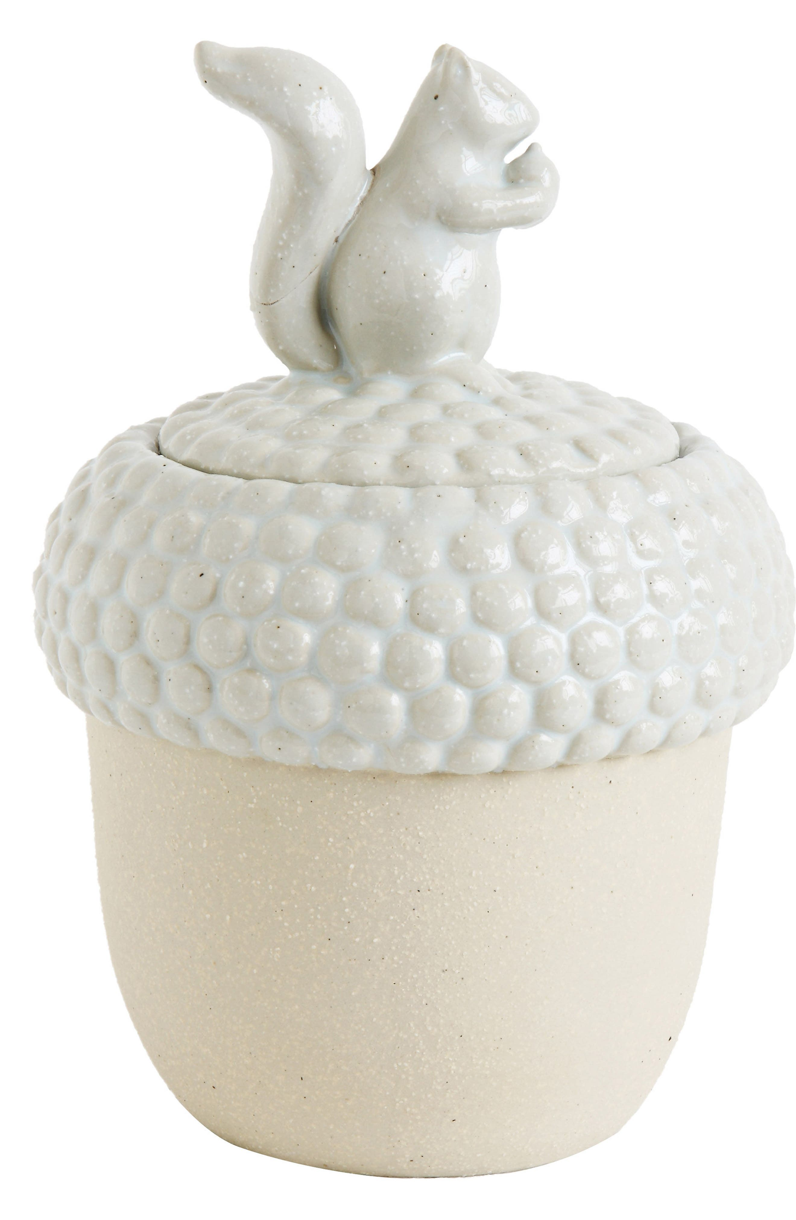 Main Image - Creative Co-Op Acorn Stoneware Jar