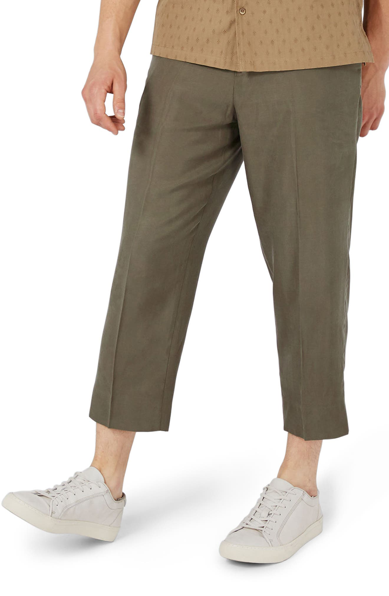 TOPMAN Crop Wide Leg Trousers