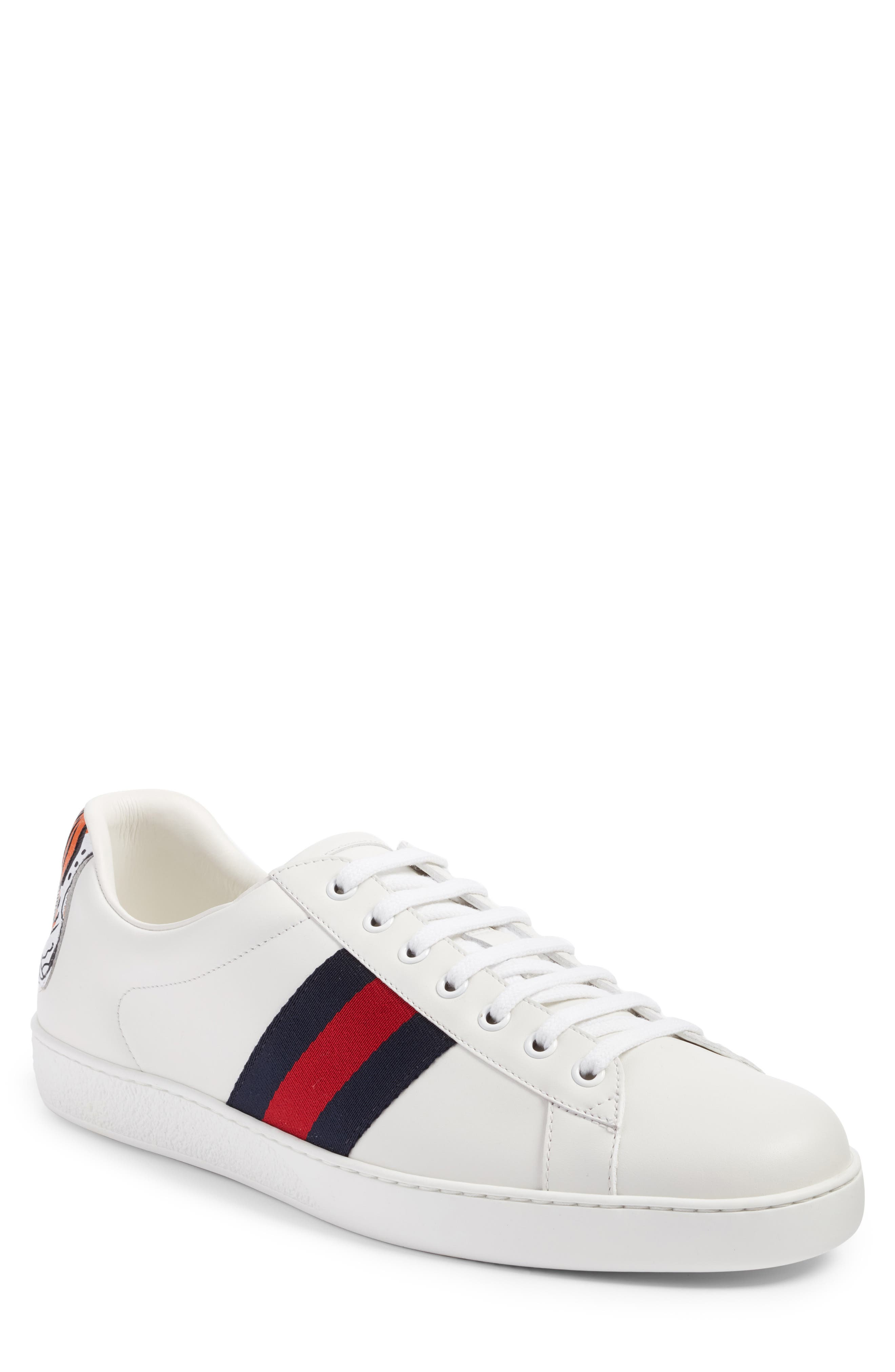 Alternate Image 1 Selected - Gucci New Ace Tiger Sneaker (Men)