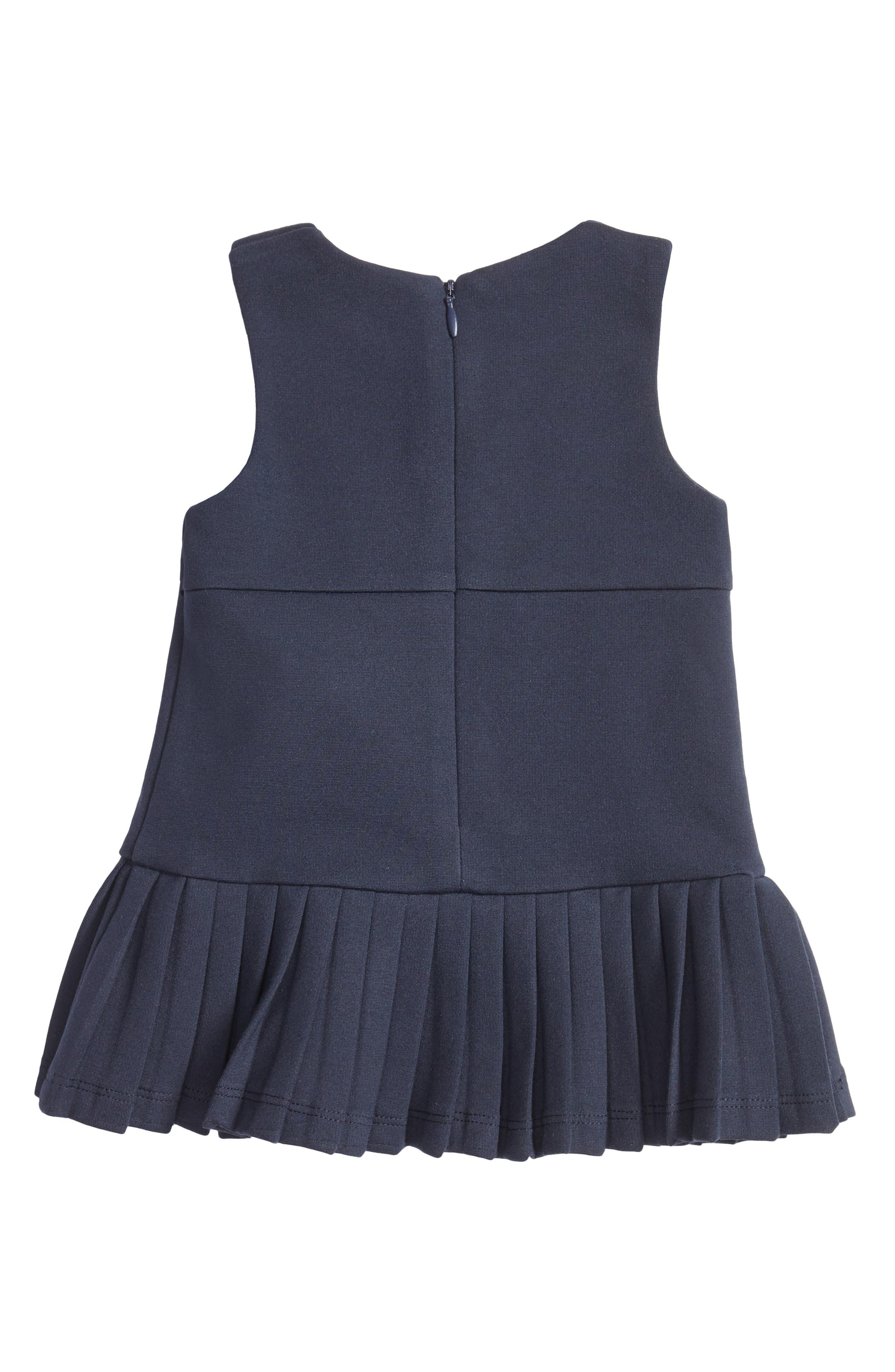 Sleeveless Jersey Dress,                             Alternate thumbnail 2, color,                             Navy Blue