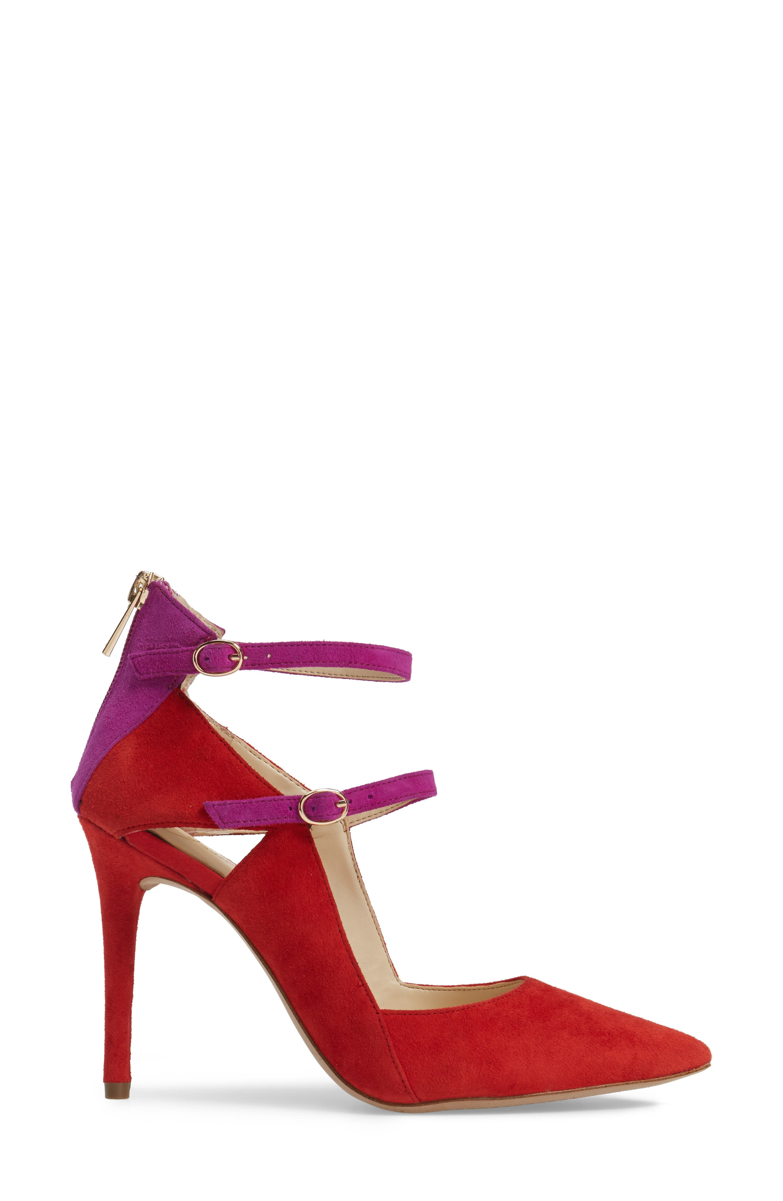 Liviana Pointy-Toe Pump,                             Alternate thumbnail 3, color,                             Red Muse Com