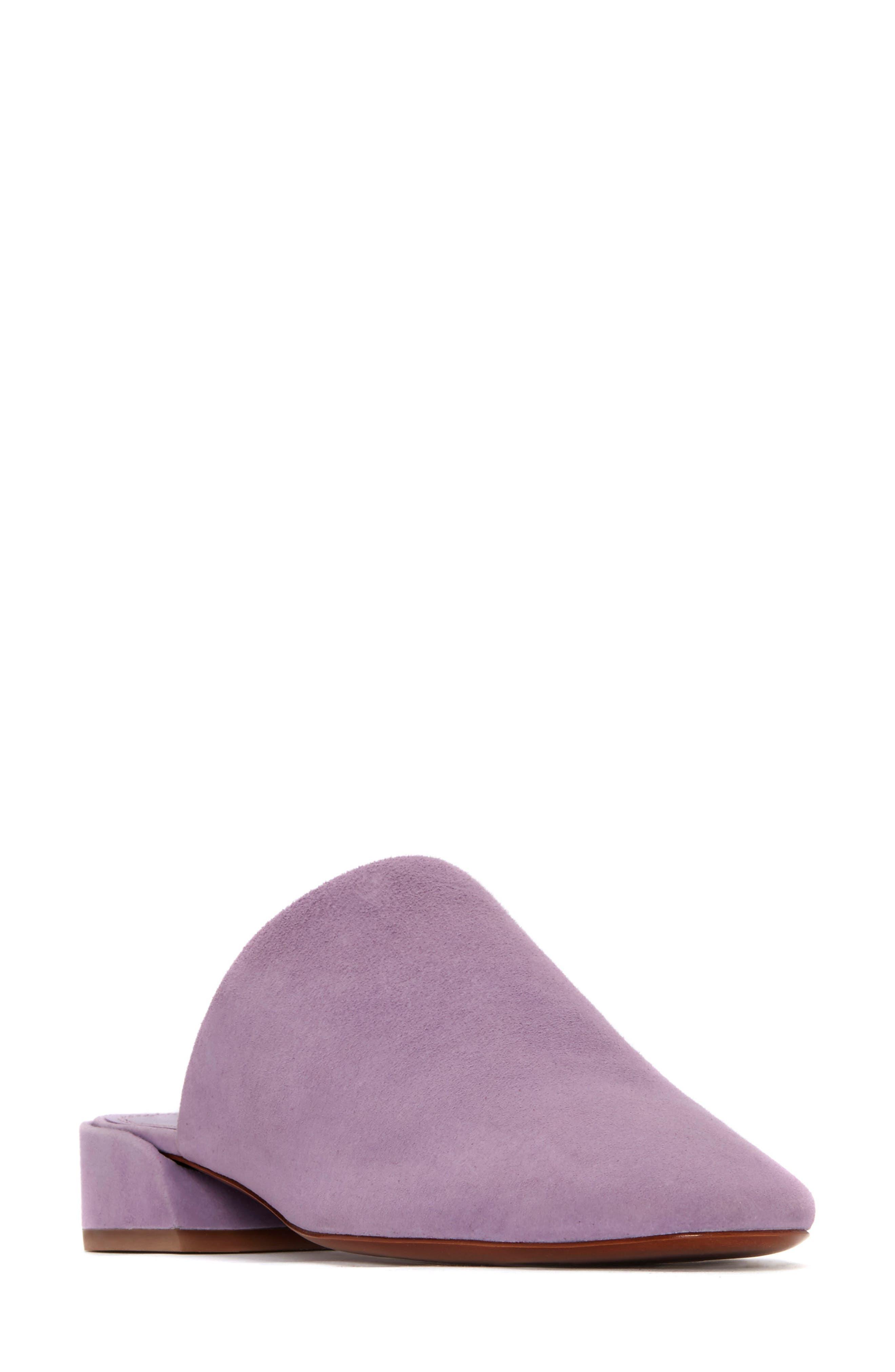 Zaira Mule,                             Main thumbnail 1, color,                             Lavender Suede