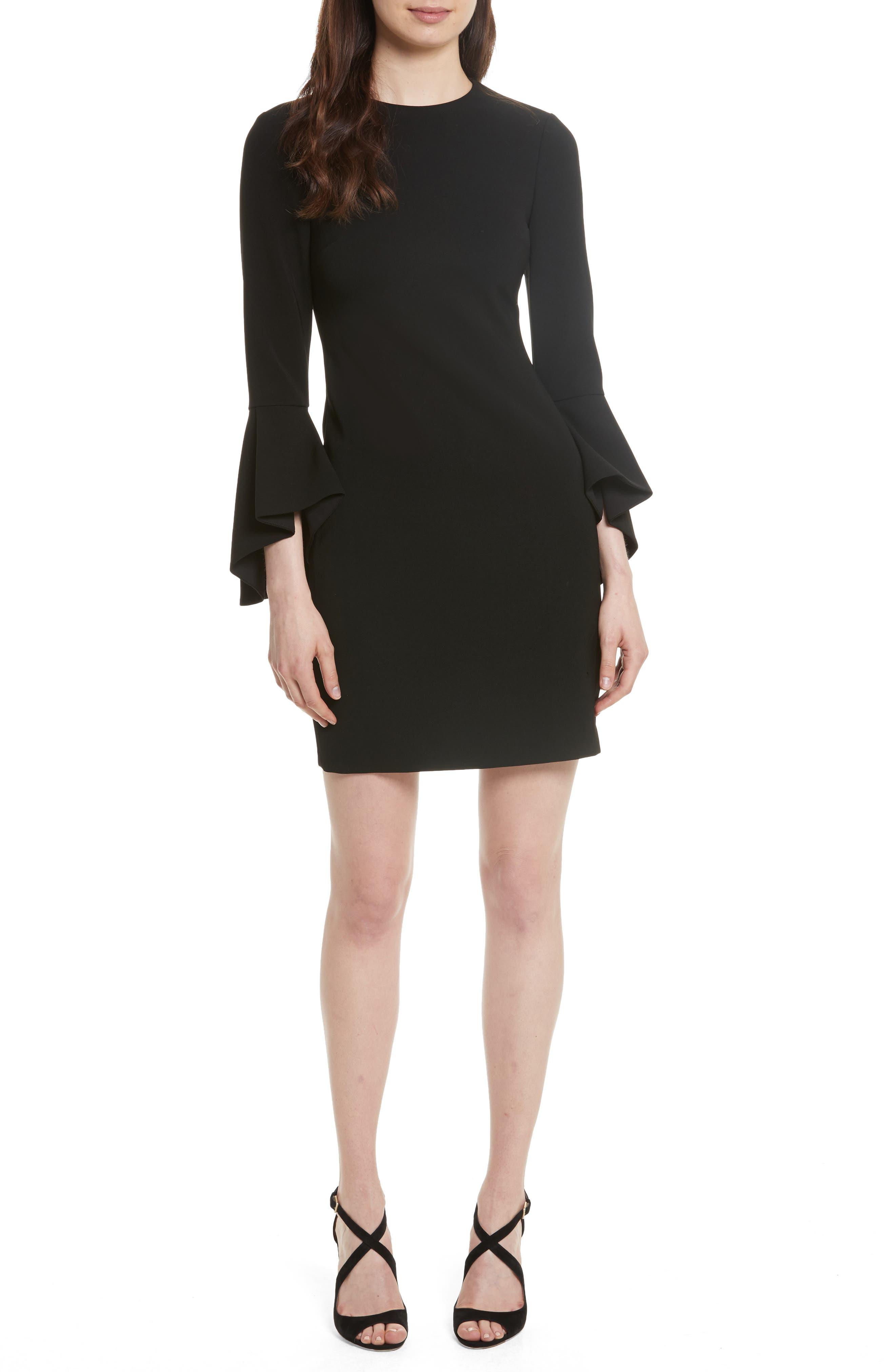 Alice + Olivia Dora Bell Sleeve Shift Dress