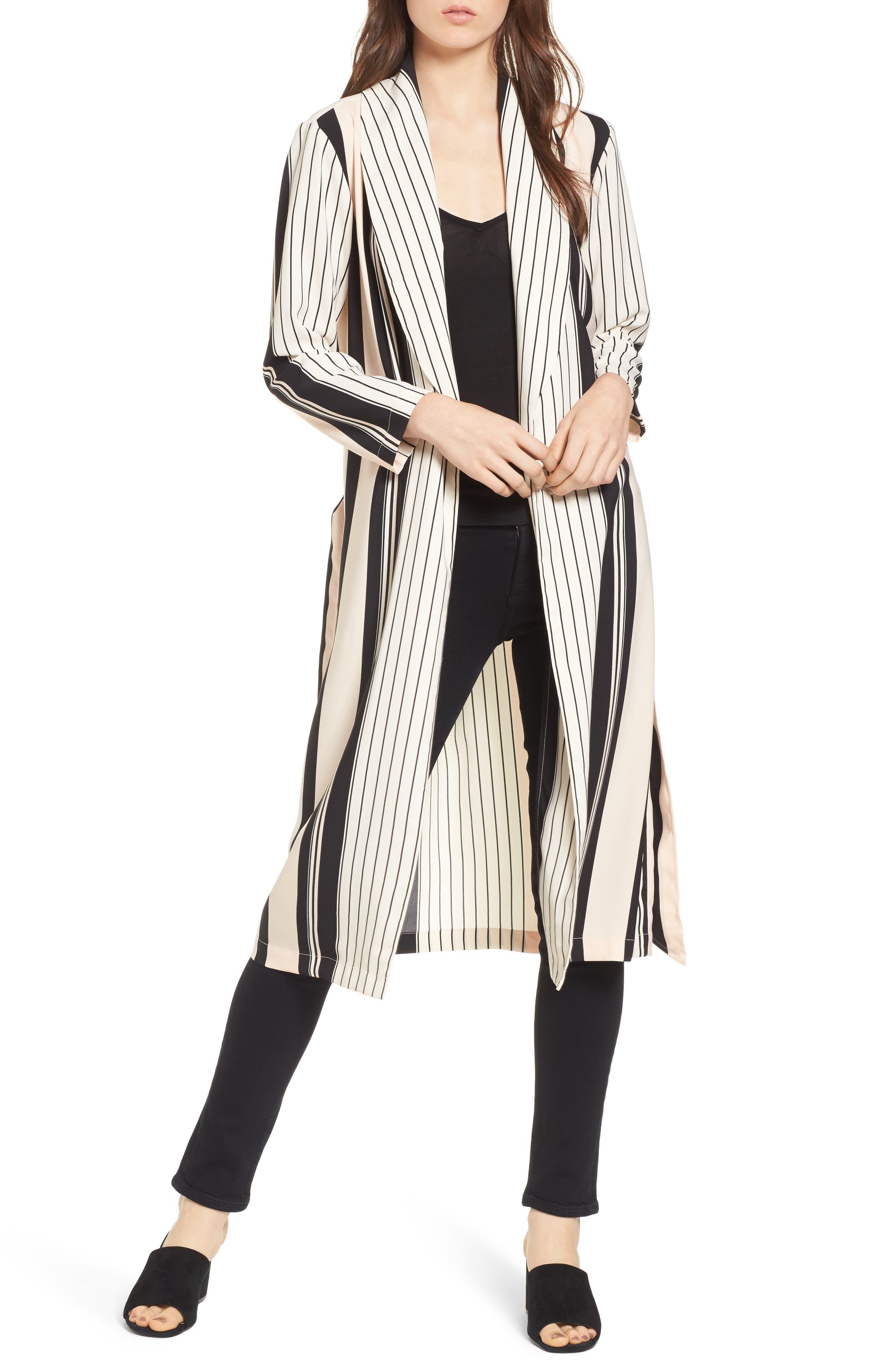 Main Image - Trouvé Stripe Longline Jacket