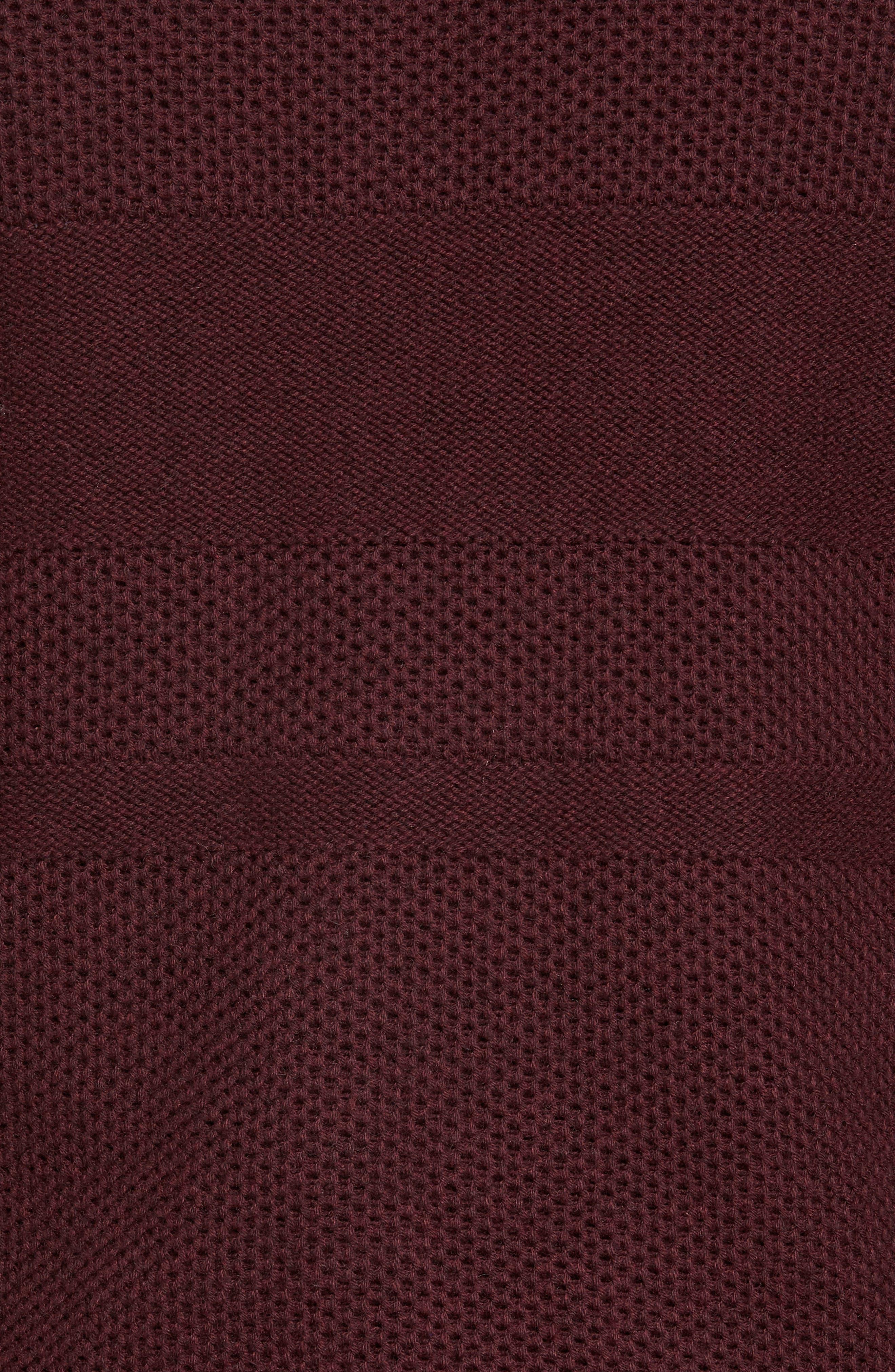 Alternate Image 5  - Nordstrom Men's Shop Texture Cotton & Cashmere Quarter Zip Sweater (Regular & Tall)
