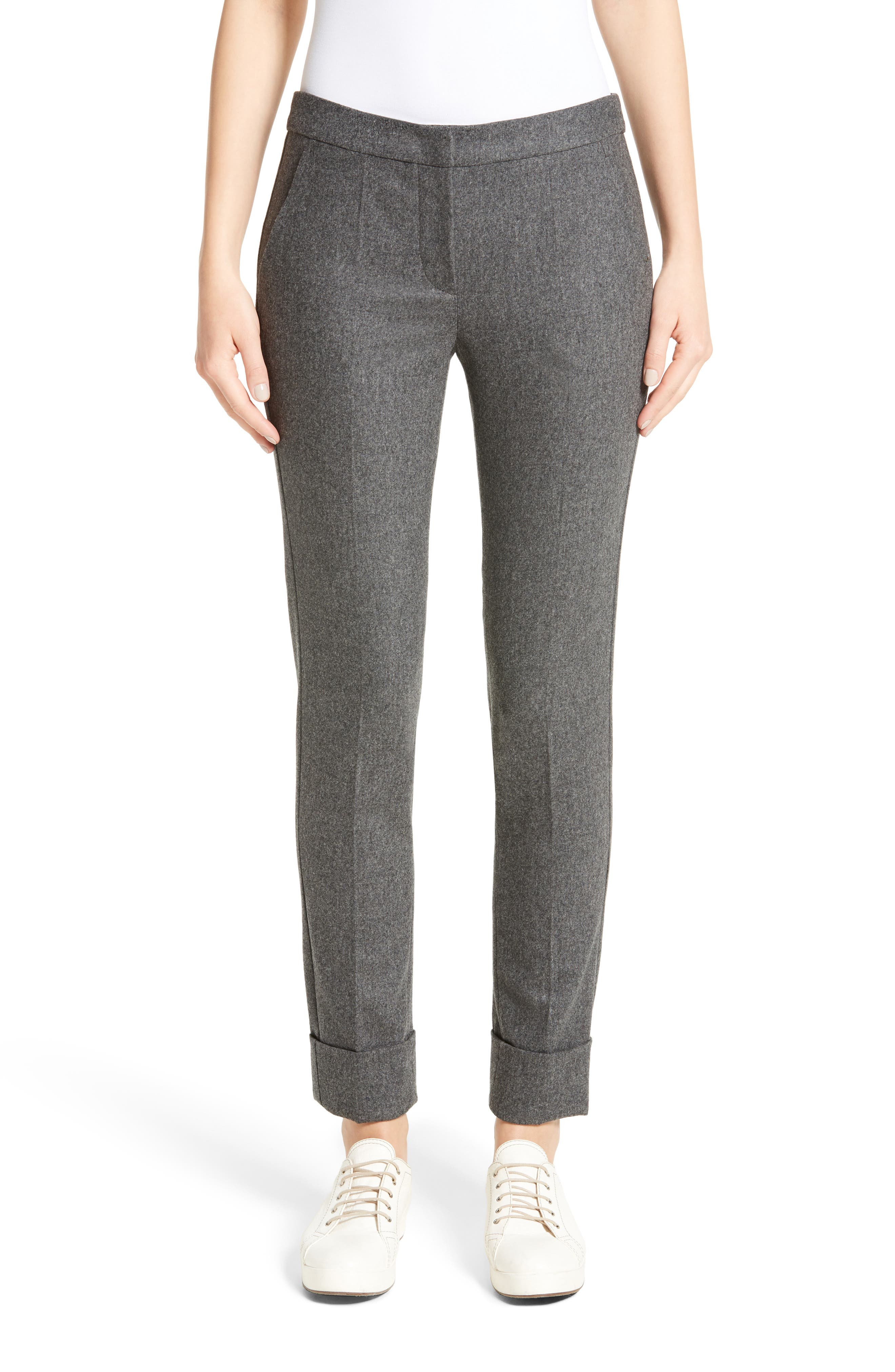 Armani Collezioni Stretch Wool & Cashmere Flannel Pants