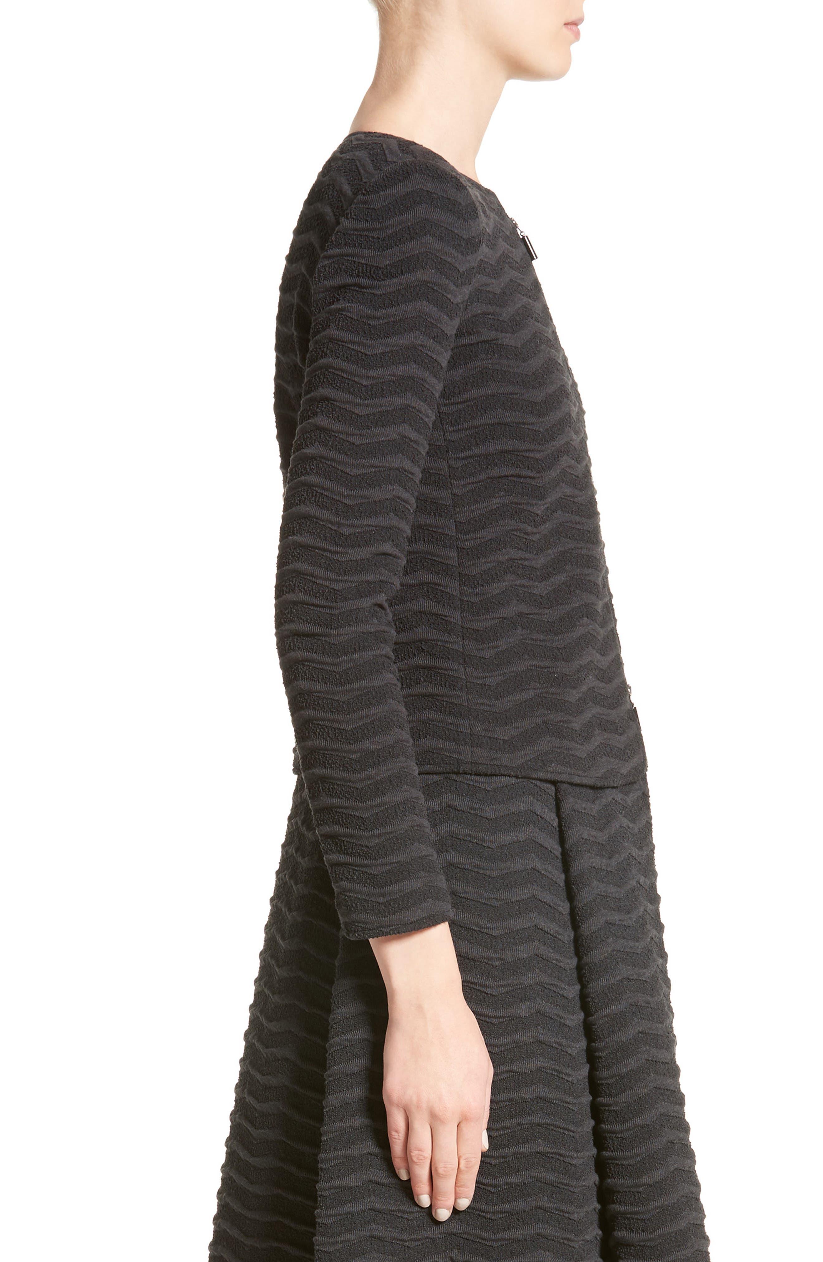 Alternate Image 5  - Armani Collezioni Embossed Jacquard Jersey Jacket