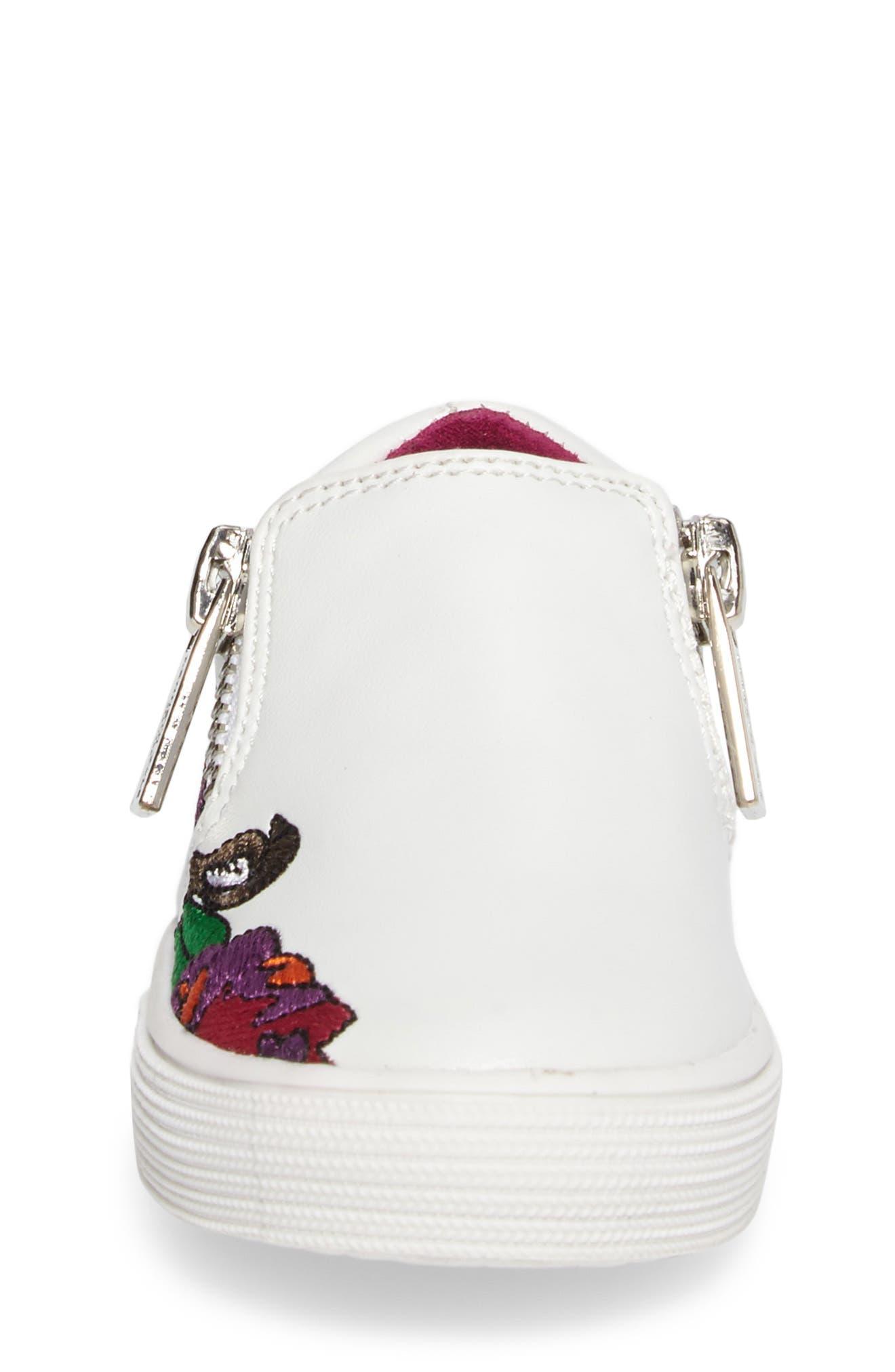 Alternate Image 4  - Kenneth Cole New York Kam Dory Embroidered Zip Sneaker (Walker & Toddler)