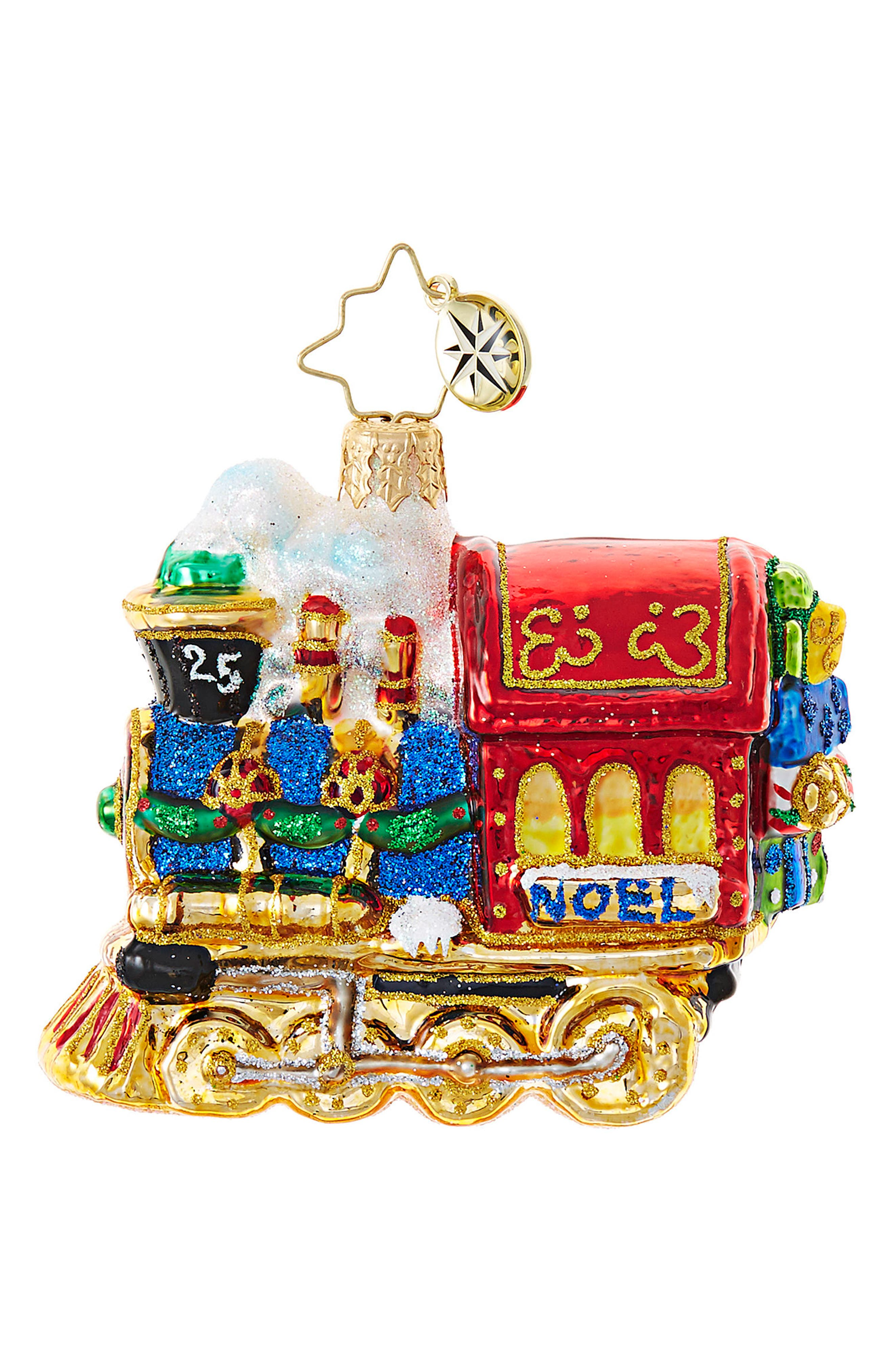 Alternate Image 1 Selected - Christopher Radko All Aboard Train Ornament