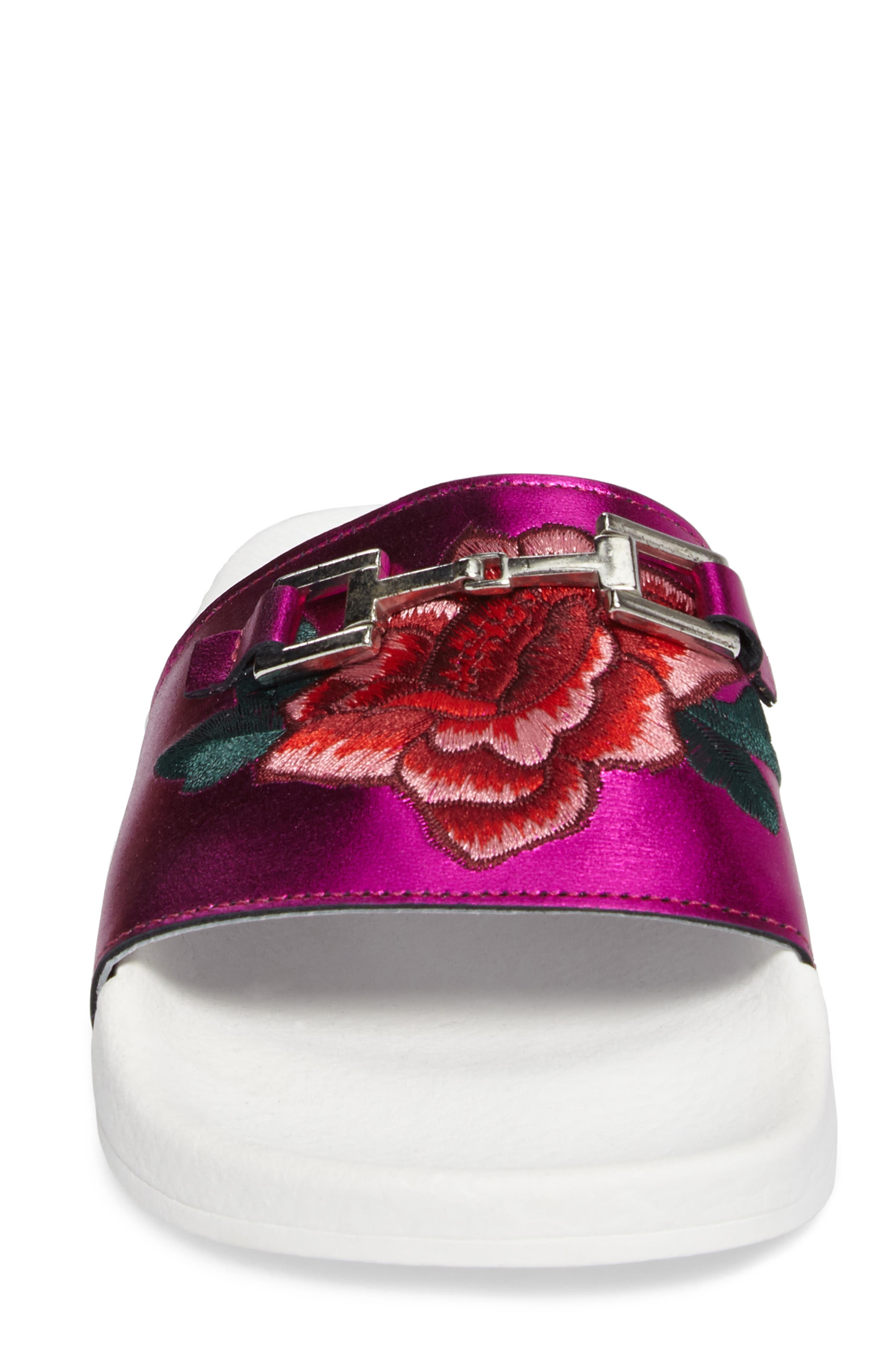 Alternate Image 4  - Topshop Fierce Embroidered Slide Sandal (Women)