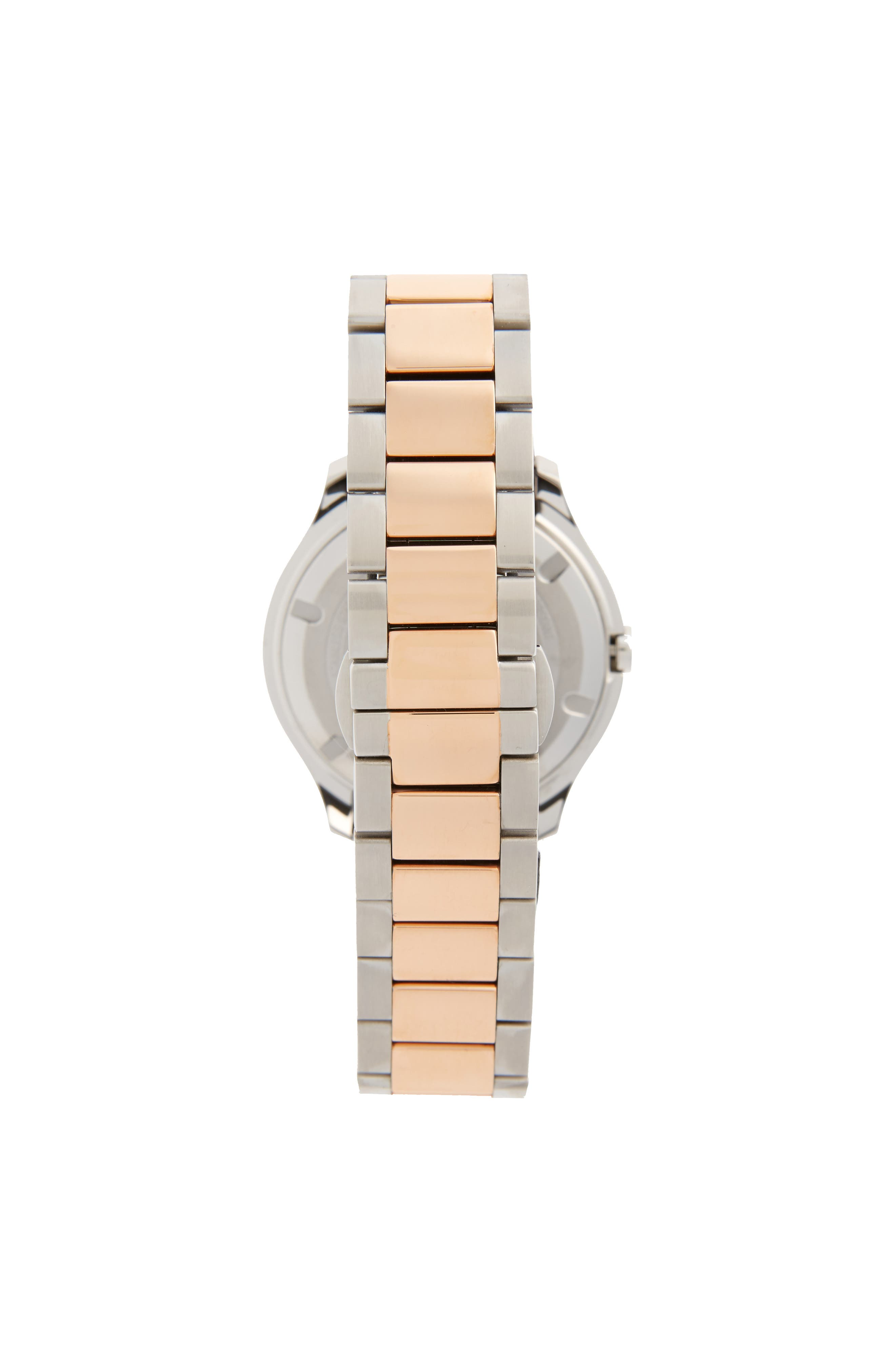 Bold Two-Tone Bracelet Watch, 38mm,                             Alternate thumbnail 2, color,                             Silver/ Rose Gold