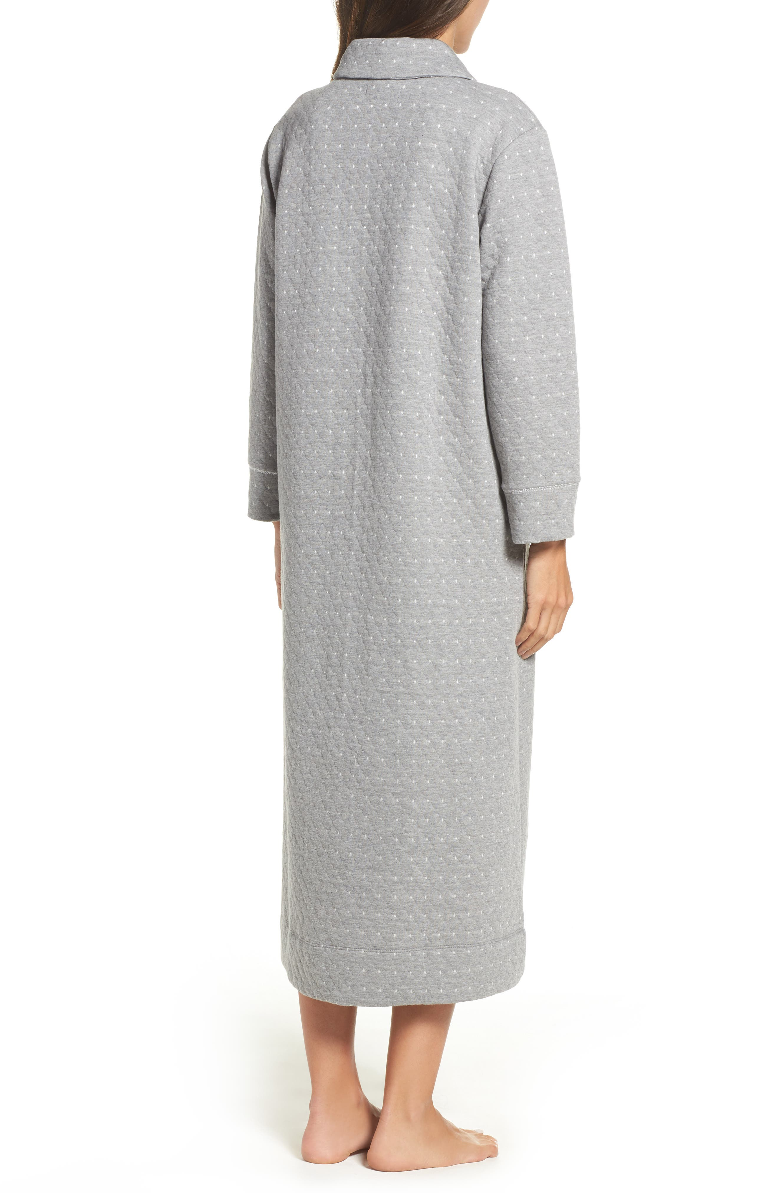 Long Zip Robe,                             Alternate thumbnail 2, color,                             Grey Heather